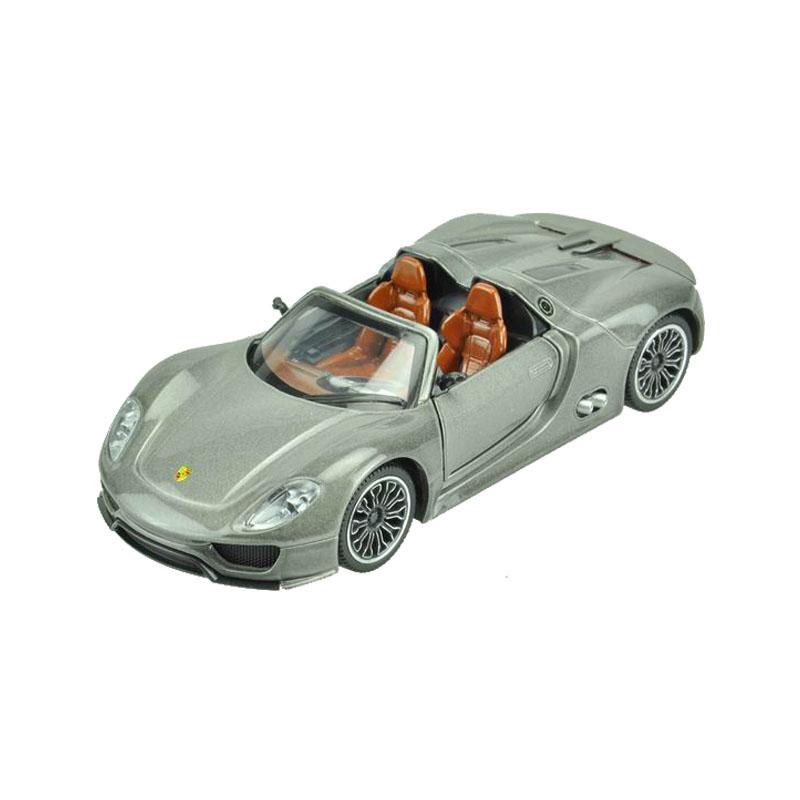 Maxi Toys Модель автомобиля Porsche 918CP-68323-GМашинка металлическая инерционная. Функции : инерционный двигатель; открывание дверей (опционально капот/багажник); звук; свет.