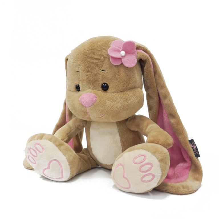 MAXITOYS Зайка Лин С Цветочком На ГоловеJL-005-25Милая зайка Лин с цветочком. Идет в наборе с подарочной коробкой с атласными ленточками и открыткой.