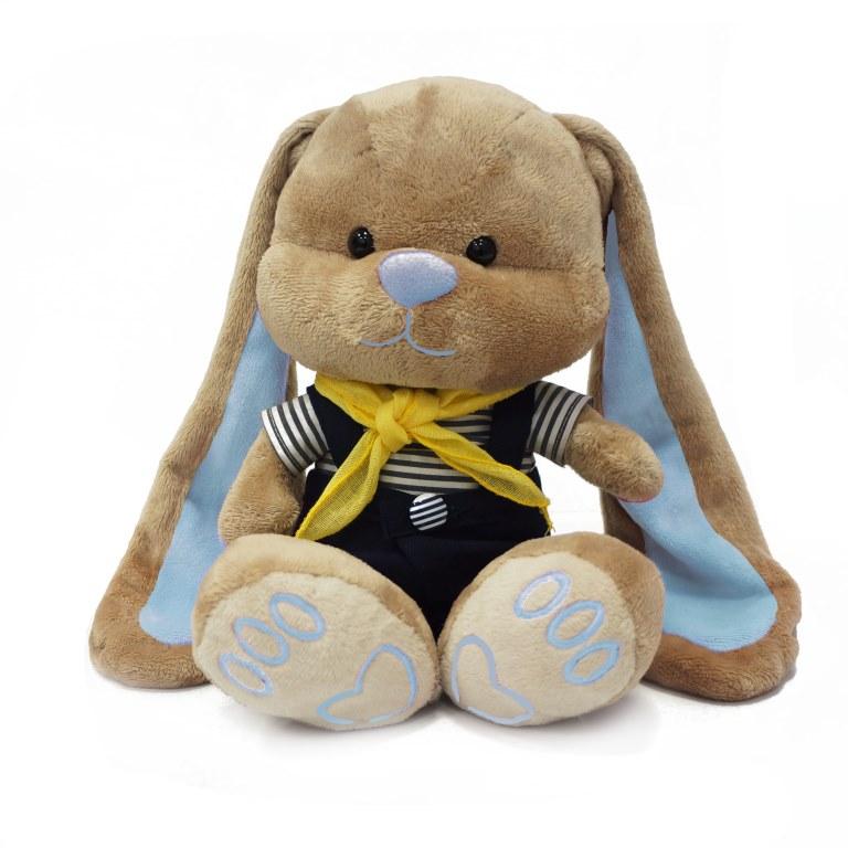 MAXITOYS Зайчик Жак В Морском КостюмчикеJL-012ST-25Зайчик Жак в морском комбинезончике с желтым шарфиком - отличное дополнение для зайки Лин. Идет в наборе с подарочной коробкой с атласными ленточками и открыткой.