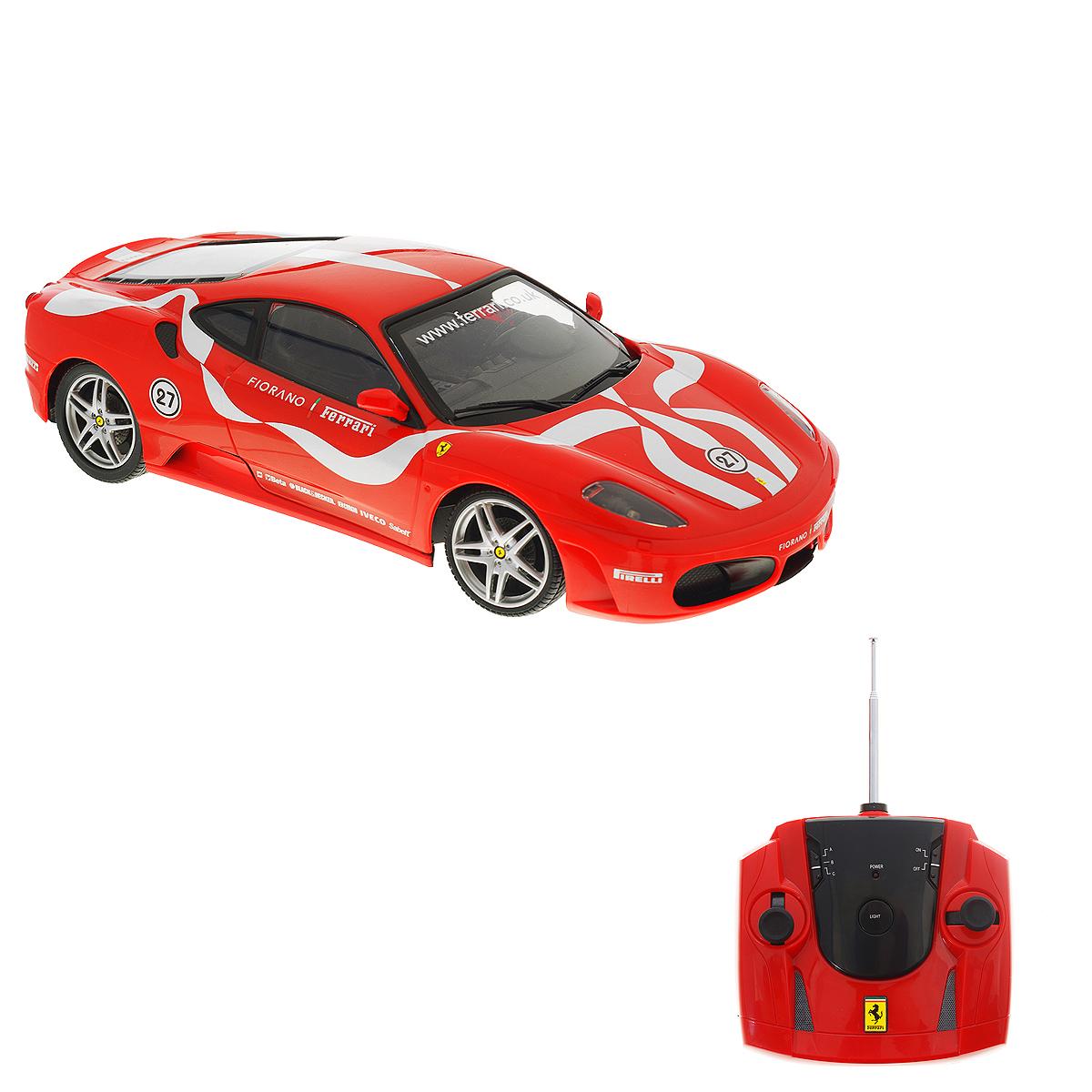 Радиоуправляемая модель Silverlit Ferrari Fiorano, цвет: красный. Масштаб 1/1686062CРадиоуправляемая модель Silverlit Ferrari Fiorano обязательно привлечет внимание взрослого и ребенка и понравится любому, кто увлекается автомобилями. Маневренная и реалистичная уменьшенная копия Ferrari Fiorano выполнена в точной детализации с настоящим автомобилем. Управление машинкой происходит с помощью пульта. Машинка двигается вперед и назад, поворачивает направо и налево (в том числе задним ходом). Игрушка оснащена световыми эффектами: у нее светятся фары, горят поворотные огни и стоп-сигналы. При движении машинки фары можно отключить с помощью пульта. Стоит лишь ребенку нажать кнопку на пульте, как у автомобиля загорятся фары, а его мотор будет издавать характерные звуки. Машинка может разгоняться до 20 км в час, но даже на этой скорости прекрасно входит во все повороты. У игрушки колеса прорезинены, поэтому она обеспечивает плавный ход игрушки и не портит напольное покрытие. В комплект входит инструкция по эксплуатации на русском языке. Продукция...