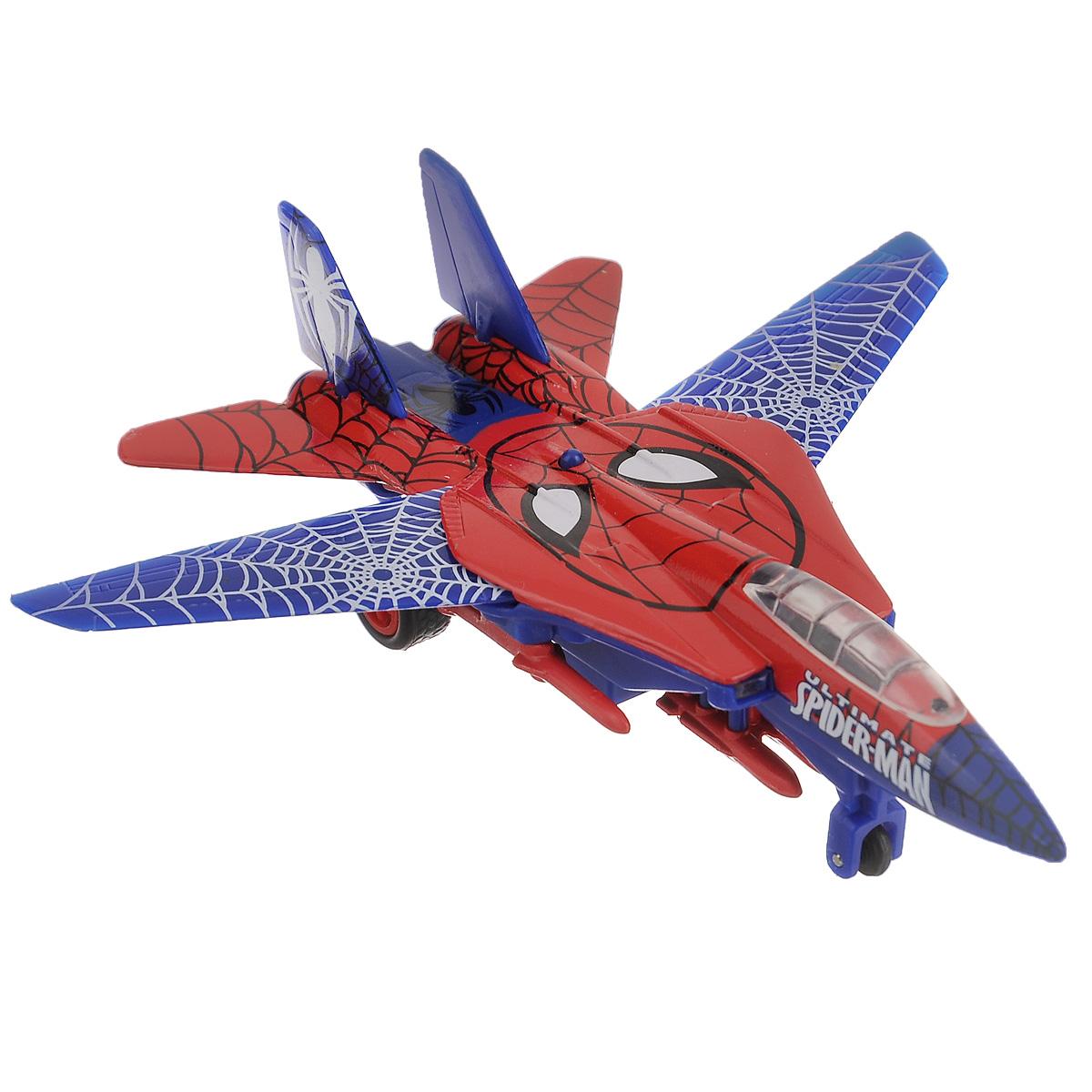 Spider-Man Самолет инерционный Великий Человек-ПаукSB-14-03-2Инерционный самолет Spider-Man Великий Человек-Паук привлечет внимание вашего ребенка и не позволит ему скучать. Он выполнен из металла с элементами из пластика и оформлен в стиле Человека-Паука. Модель оснащена боекомплектом. Самолет оснащен инерционным механизмом: стоит откатить его назад, слегка нажав на крышу, затем отпустить, и он молниеносно поедет вперед. При нажатии кнопки на крыше самолет издает звуковой сигнал и подсвечивается пилота. С этой игрушкой ваш малыш будет часами занят, придумывая различные истории. Порадуйте его таким замечательным подарком! Рекомендуется докупить 3 батарейки напряжением 1,5V типа LR41 (товар комплектуется демонстрационными).