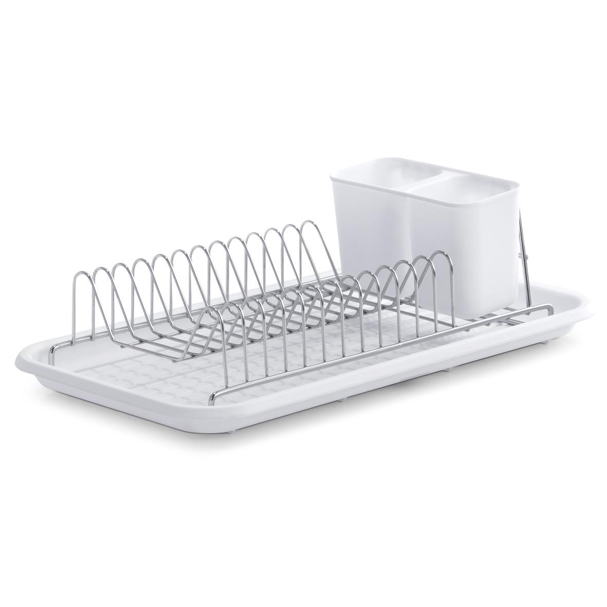 Подставка для сушки посуды 44х24х12см белая 2489224892Подставка для сушки посуды 44х24х12см белая 24892