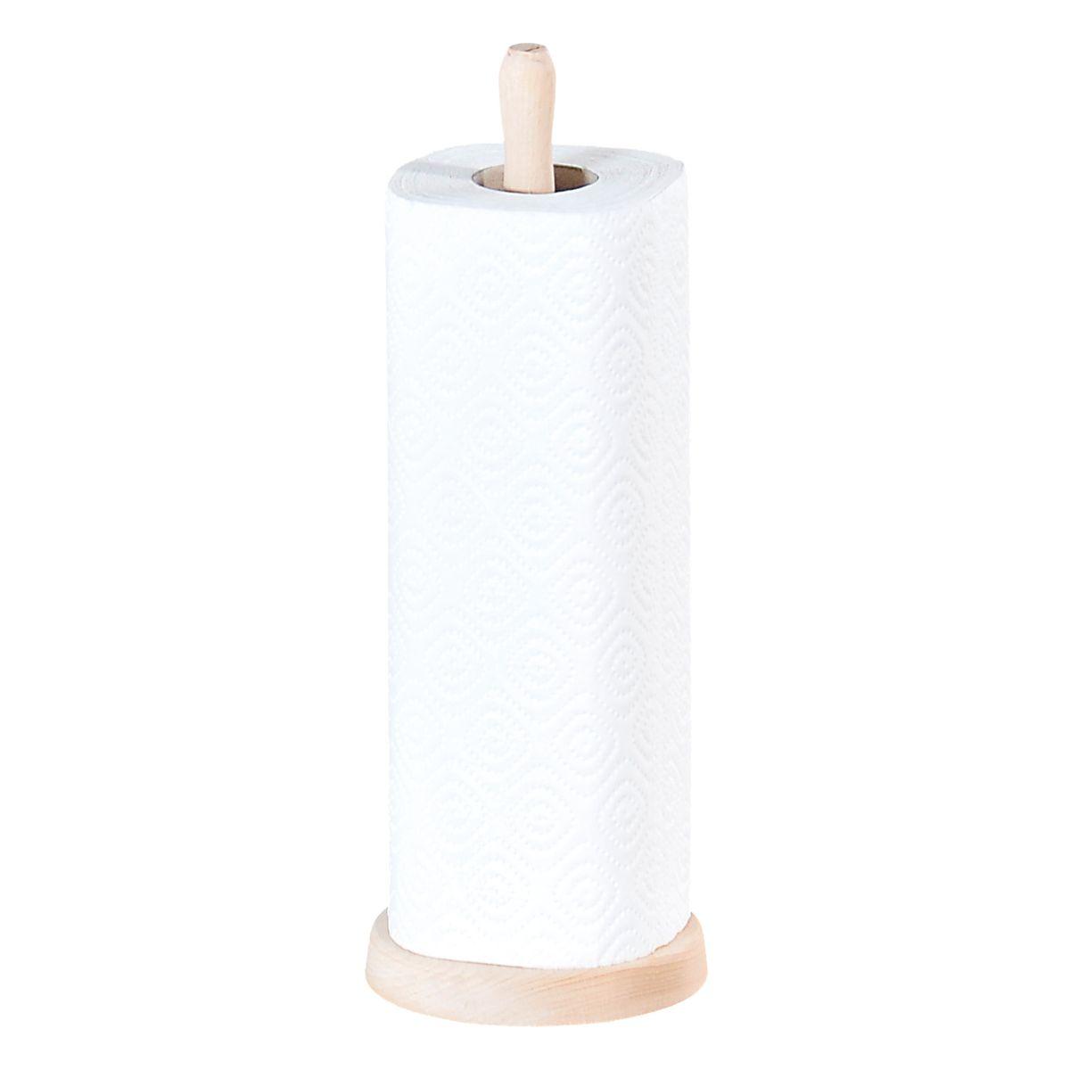 Стойка для кухон.полотенца. 1200-21200-2С помощью держателя очень удобно хранить кухонные бумажные полотенца для рук. Изготовлен из дерева светлое дерево