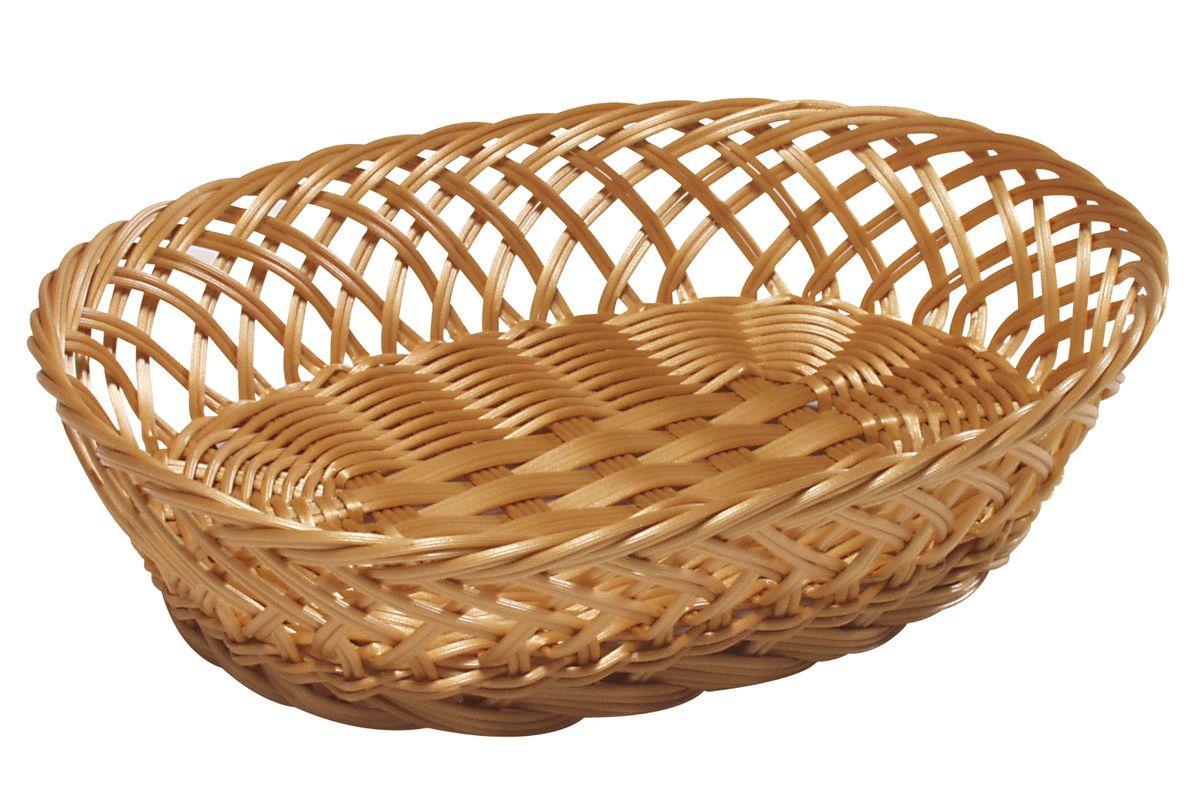Корзинка для фруктов Kesper, 30,5 х 23 х 9 см 1784-41784-4Оригинальная плетеная корзинка Kesper овальной формы, выполнена из пластика, напоминающего фактуру дерева. Корзинка прекрасно подойдет для вашей кухни. Она предназначена для красивой сервировки фруктов. Изящный дизайн придется по вкусу и ценителям классики, и тем, кто предпочитает утонченность и изысканность. Можно мыть в посудомоечной машине. Размер корзинки: 30,5 см х 23 см х 9 см.