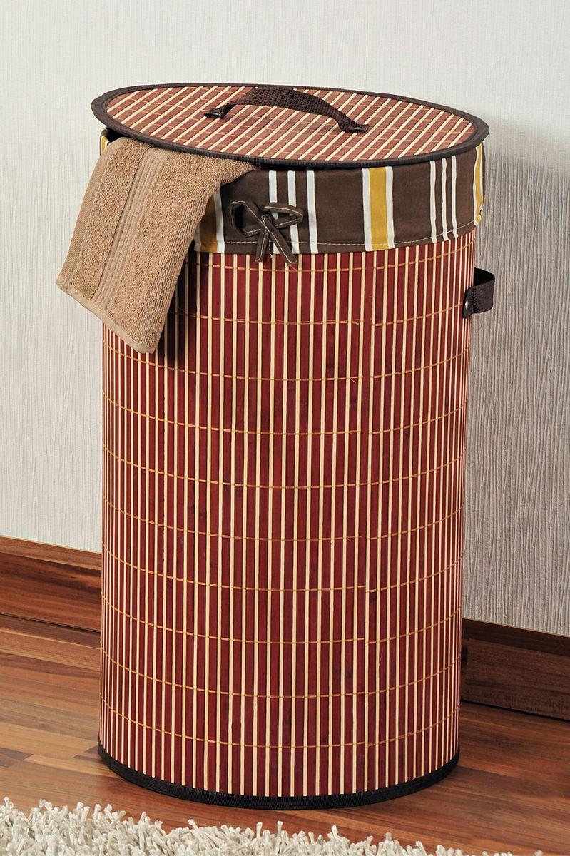 Корзина для белья Kesper, диаметр 35 см1957-0Корзина для белья Kesper, выполненная из натурального дерева, предназначена для хранения белья перед стиркой. Корзина очень легко собирается. Внутренний чехол корзины изготовлен из текстиля. Изделие оснащено крышкой и удобными ручками из искусственной кожи. Корзина для белья Kesper - это функциональная и полезная вещь, которая не только сохранит ваше белье, но и стильно украсит интерьер помещения. Диаметр: 35 см. Высота: 60 см.