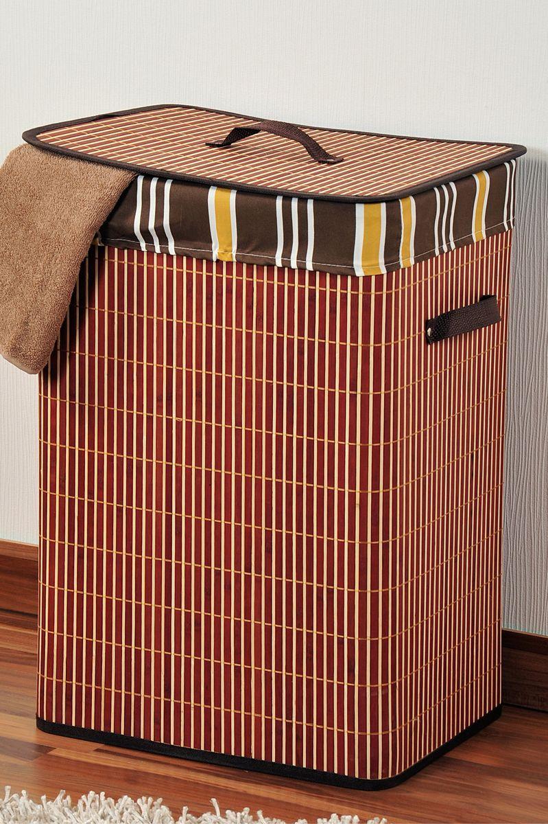 Корзина для белья Kesper, 42 х 32 х 60 см 1957-11957-1Корзина для белья Kesper, выполненная из натурального дерева, предназначена для хранения белья перед стиркой. Корзина очень легко собирается. Внутренний чехол корзины изготовлен из текстиля. Изделие оснащено крышкой и удобными ручками из искусственной кожи. Корзина для белья Kesper - это функциональная и полезная вещь, которая не только сохранит ваше белье, но и стильно украсит интерьер помещения.