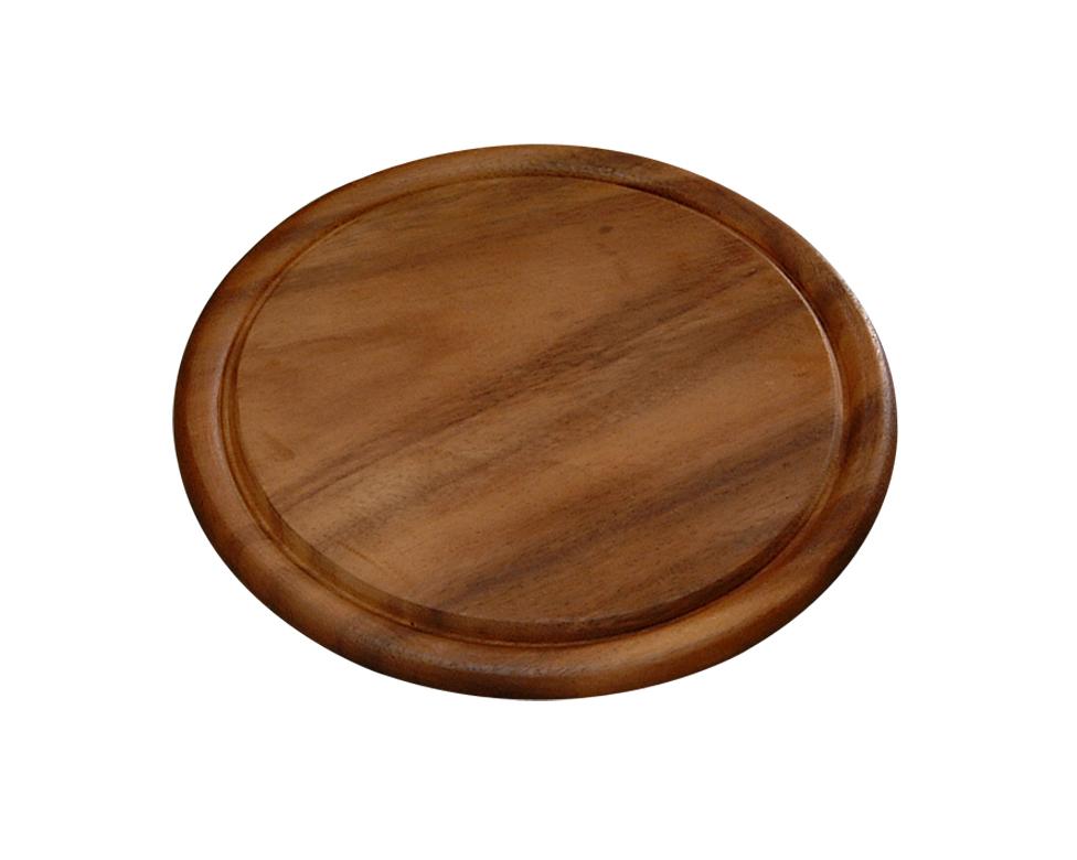 Доска подстановочная 25 см, темн.дерево2044-2Доска деревянная из темного дерева акации, круглая. Подходит для частого применения, имеет небольшой размер, что экономит место на кухне. Толщина-1,5 см, высота бортика -0,5см, внутренний диаметр -22 см