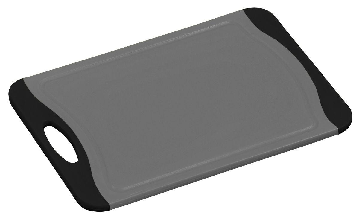 Доска разделочная Kesper, цвет: серый, черный, 29 х 20 см3087-5Яркая разделочная доска Kesper прекрасно подходит для разделки всех видов пищевых продуктов. Изготовлена из прочного пластика. Изделие оснащено отверстием для подвешивания на крючок. Можно мыть в посудомоечной машине. Размер доски: 29 х 20 х 0,8 см.