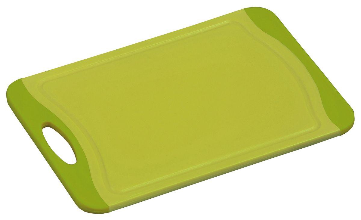 Доска разделочная Kesper, цвет: зеленый, салатовый, 29 х 20 см3088-5Яркая разделочная доска Kesper прекрасно подходит для разделки всех видов пищевых продуктов. Изготовлена из прочного пластика. Изделие оснащено отверстием для подвешивания на крючок. Можно мыть в посудомоечной машине. Размер доски: 29 х 20 х 0,8 см.