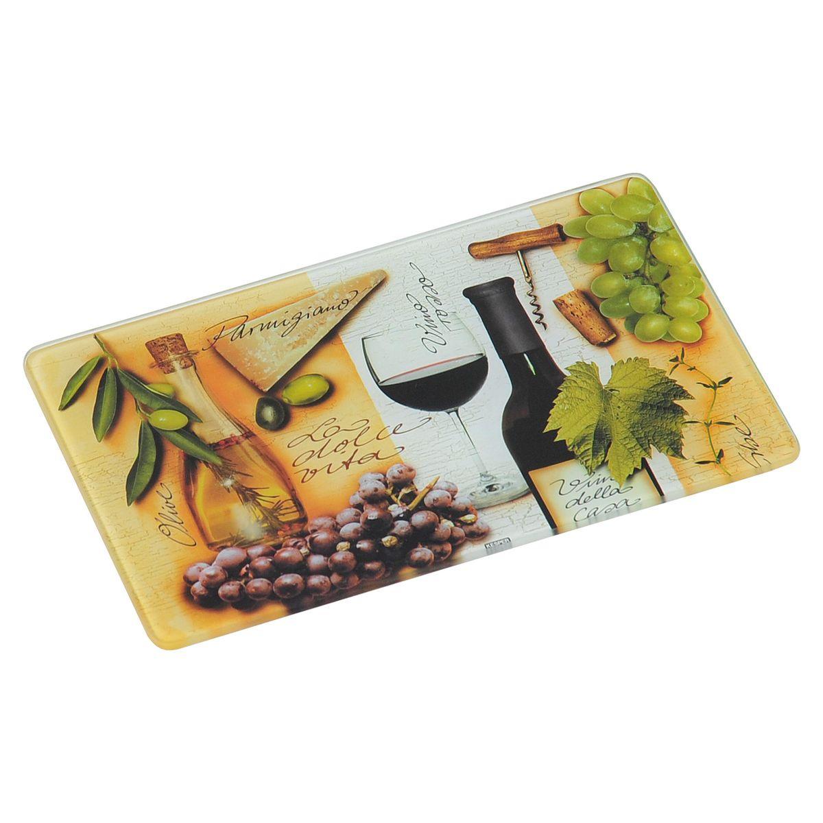 Доска разделочная Kesper Italien, 23,5 х 14,5 см3627-1Разделочная доска Kesper Italien, изготовленная из гладкого закаленного стекла с ярким рисунком, станет незаменимым атрибутом приготовления пищи. Доска устойчива к повреждениям и не впитывает запахи, идеально подходит для разделки мяса, рыбы, приготовления теста и для нарезки любых продуктов. Доску можно использовать как подставку под горячее, так как она выдерживает температуру до 280°C. Силиконовые ножки, расположенные на основании, не позволят разделочной доске скользить по столу.