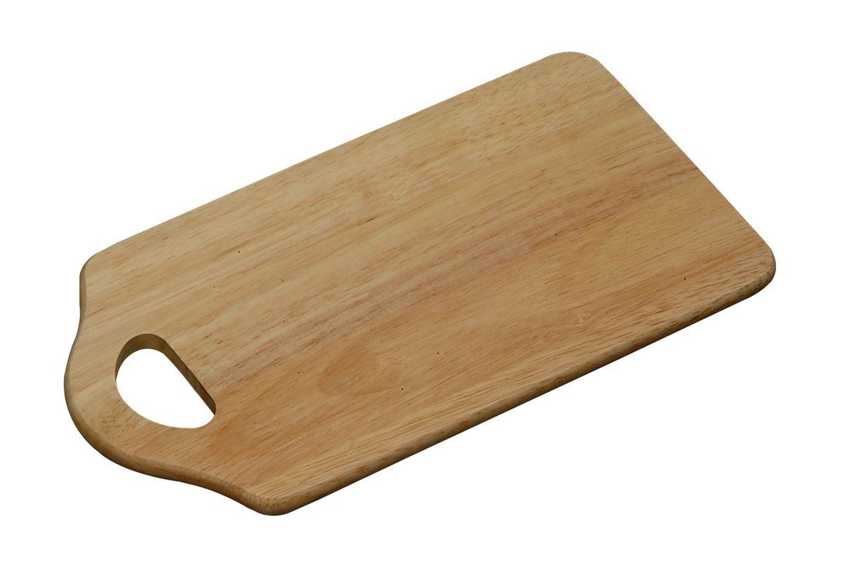 Доска разделочная с ручкой 27,5х15 см. дерево6802-5Доска разделочная изготовлена из дерева. Прекрасно подходит для приготовления и сервировки пищи. Всем известно, что на кухне без разделочной доски не обойтись! Ведь во время приготовления пищи мы то и дело что-то режем. Поэтому разделочная доска должна быть изготовлена из прочного и экологически чистого материала, ведь с ней соприкасается наша пища.