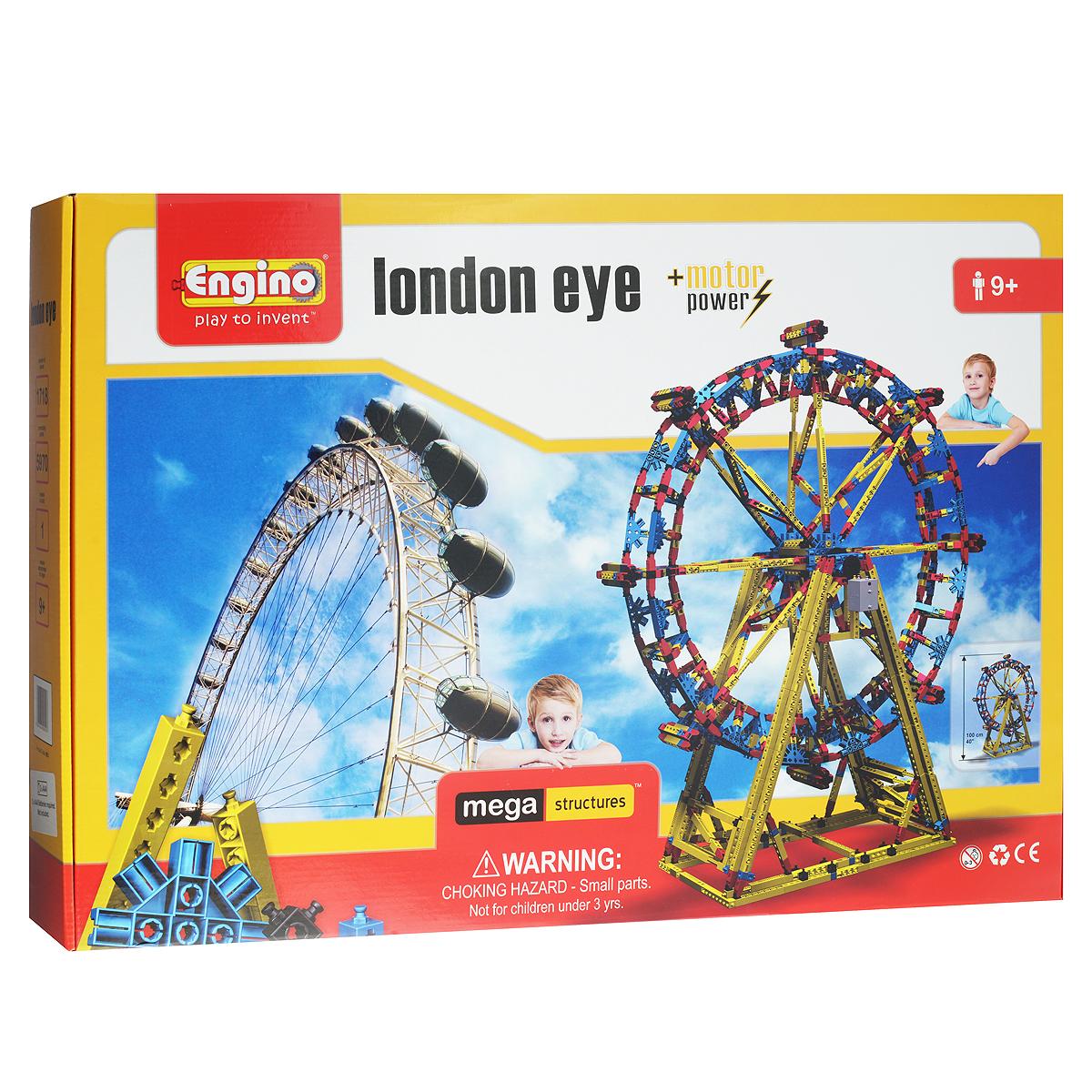 Engino Конструктор London EyeMS3Конструктор Engino London Eye позволит вашему ребенку построить действующую модель гигантского колеса обозрения Лондонский глаз и запустить ее при помощи электродвигателя! Комплект включает 1635 элементов конструктора, в том числе электродвигатель, и схематичную инструкцию по сборке. Лондонский глаз - самое высокое в Европе и одно из самых высоких в мире колес обозрения, возведенное в 2000 г. на берегу реки Темзы британскими архитекторами Дэвидом Марксом и Джулией Барфилд. С высоты 135 метров (примерно 45 этажей) открывается вид на весь Лондон. Набор серии Мега Конструкции - не только познавательная игра, позволяющая создавать трехмерные сооружения, но и восхитительный подарок! Необходимо докупить 2 батарейки напряжением 1,5V типа ААА/LR03 (не входят в комплект).
