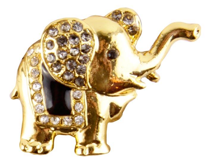 Брошь Золотой слон. Бижутерный сплав , эмаль, австрийские кристаллы. Конец XX векаСБУ83130Брошь Золотой слон. Бижутерный сплав, эмаль, австрийские кристаллы. Западная Европа, конец XX века. Размеры 4 х 3 см. Сохранность хорошая. Очаровательная яркая брошка в виде слона с поднятым хоботом. Аксессуар сделан из золотого металлического сплава. Уши слона украшены россыпью прозрачных кристаллов. Попона черного цвета так же украшена кристаллами . Эта красивая брошь станет отличным украшением и гармонично дополнит Ваш наряд, станет завершающим штрихом в создании образа. Слон как символ мудрости, семьи и счастья принесет вам удачу и хорошее настроение.