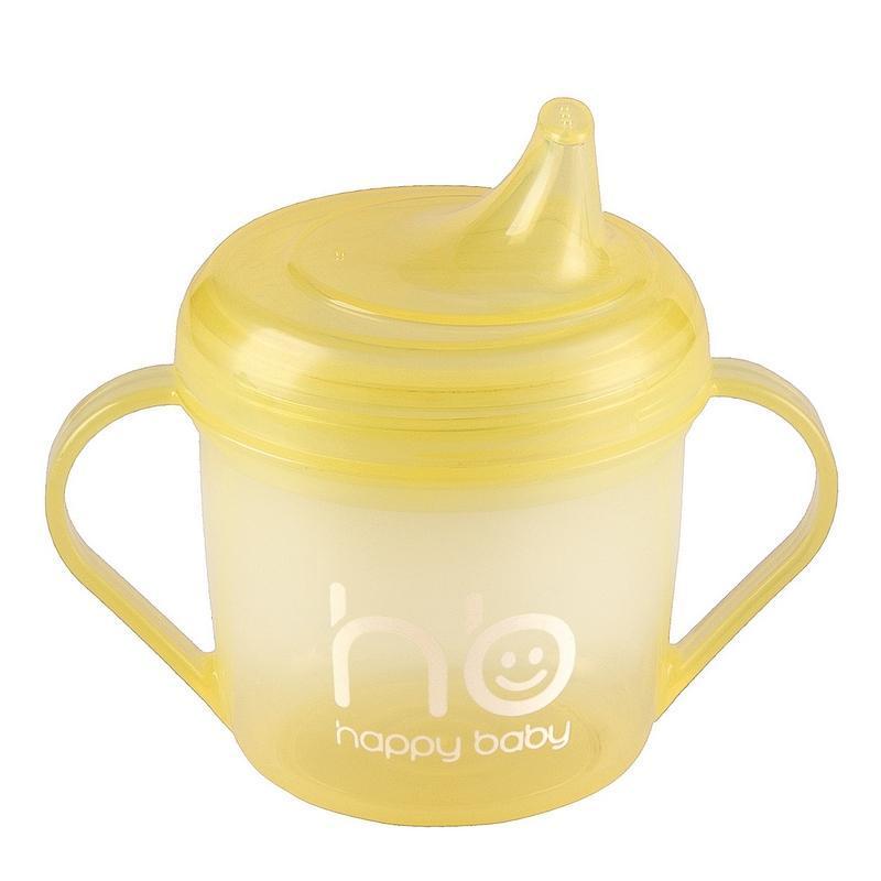 Happy Baby Поильник от 6 месяцев цвет желтый 170 мл14001_желтыйHappy Baby 14001new Поильник желтый