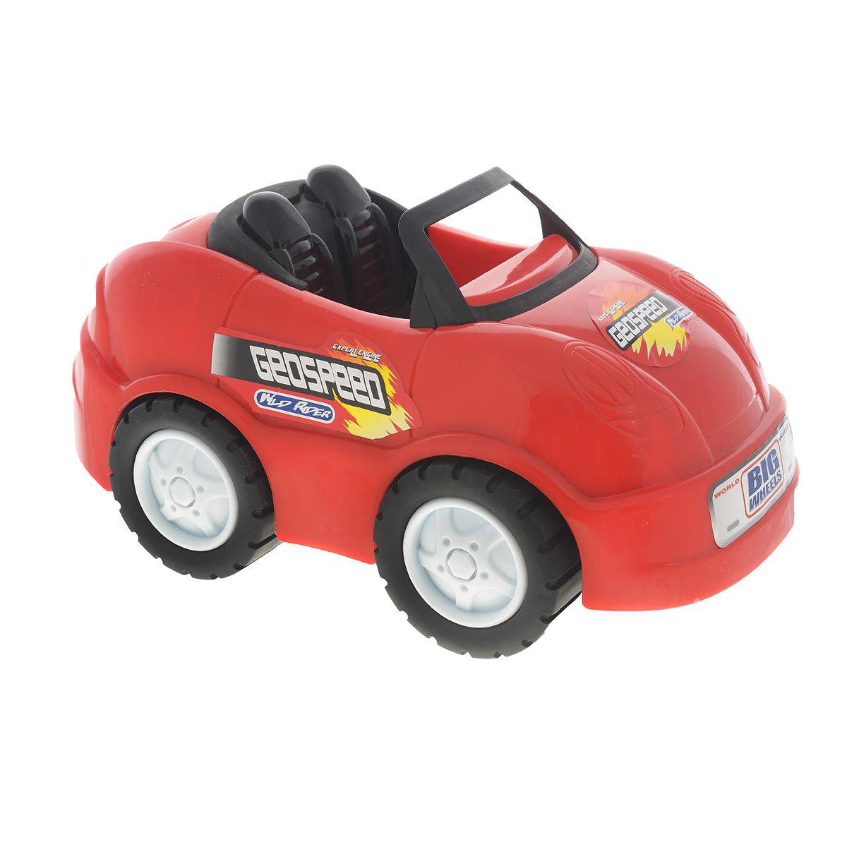 Keenway Машинка Big Wheels цвет красный12815Машинка Keenway Big Wheels обязательно понравится вашему малышу. Она привлечет внимание вашего ребенка и надолго останется его любимой игрушкой. Игрушка выполнена из яркого безопасного пластика в виде машинки-кабриолета. В салон можно посадить несколько небольших игрушек. Колеса машинки вращаются. Игрушка развивает концентрацию внимания, координацию движений, мелкую моторику рук, цветовое восприятие и воображение. Малыш будет в восторге от такого подарка!