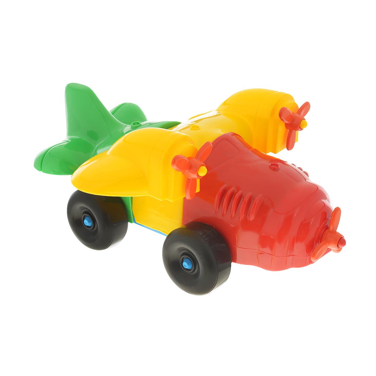 Каталка-конструктор Bauer Самолет. 283283Каталка-конструктор Bauer Самолет обязательно привлечет внимание вашего малыша. Игрушка состоит из нескольких крупных элементов разных цветов, из которых можно собрать самолет на колесиках. Также в комплект входит верёвочка, которую можно привязать к игрушке, чтобы ребёнок мог катить её за собой. Игрушка выполнена из высококачественного пластика с использованием пищевых красителей. С такой игрушкой ваш ребенок весело проведет время, играя на детской площадке или в песочнице. А процесс сборки игрушки-конструктора поможет малышу развить мелкую моторику пальчиков, внимательность и усидчивость. Порадуйте своего малыша такой чудесной игрушкой!