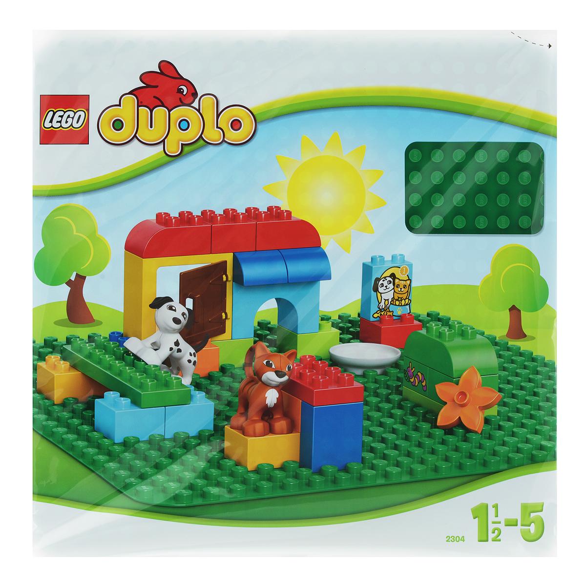 LEGO DUPLO Строительная пластина зеленого цвета