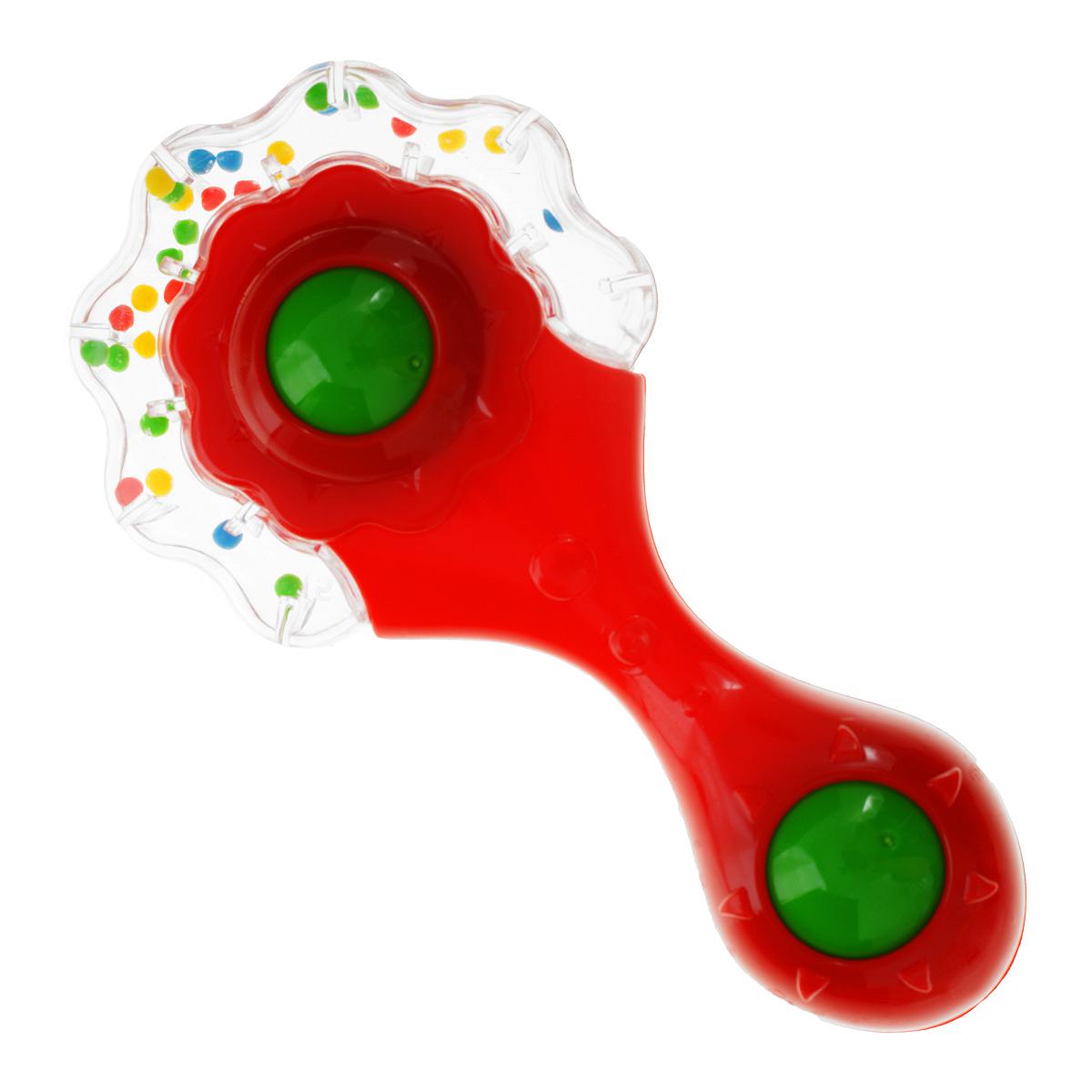 Stellar Погремушка Одуванчик цвет красный01553Погремушка Stellar Одуванчик развлечет вашего ребенка. Она выполнена из яркого пластика и оснащена прозрачной вставкой с цветными бусинами внутри, гремящими при тряске, а также двухцветным шариком, встроенным в ручку. Погремушка знакомит малыша с миром звуков, движения и ярких цветов.