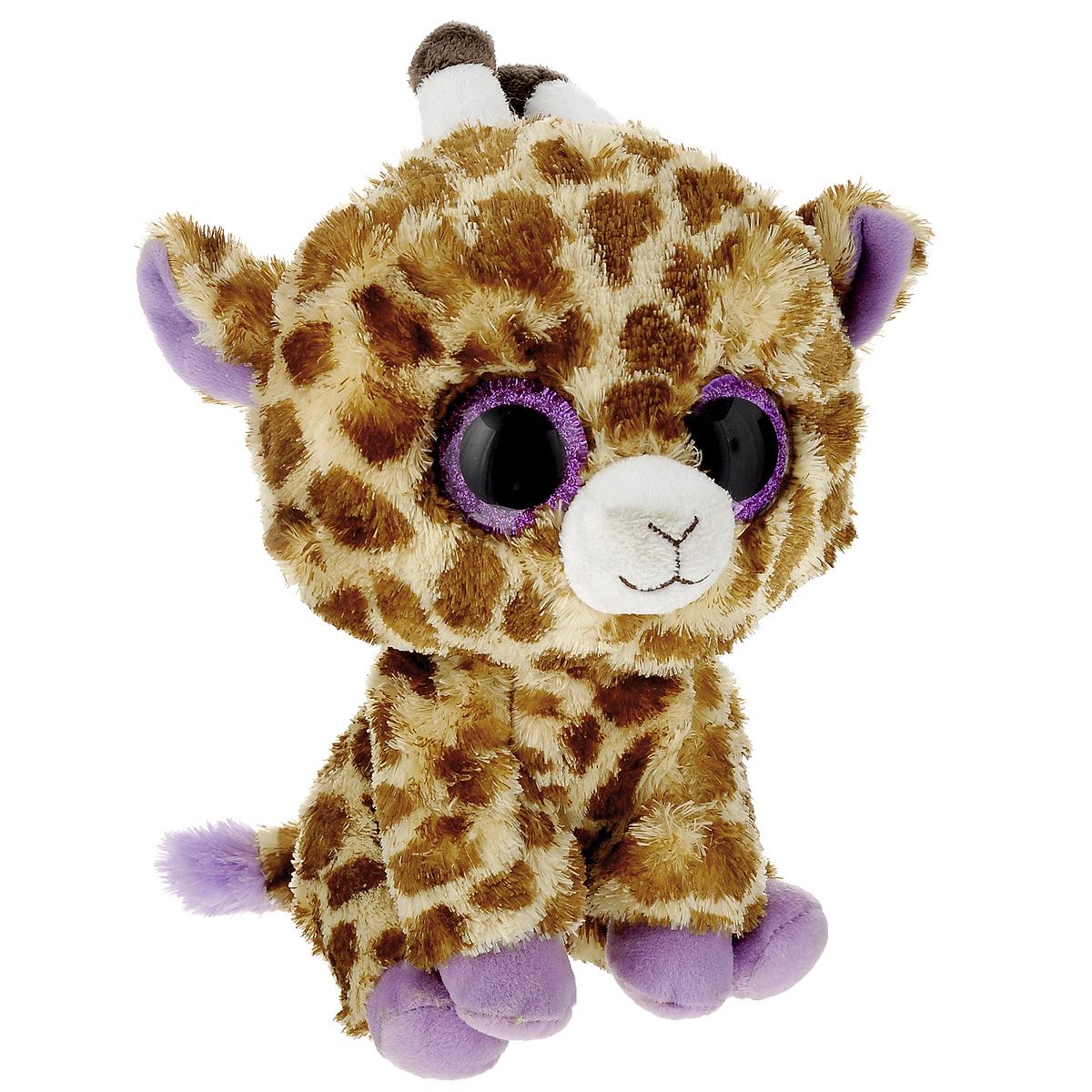 Мягкая игрушка Beanie Boos Жираф Safari, 23 см36905Очаровательная мягкая игрушка Beanie Boos Жираф Safari, выполненная в виде жирафа, непременно вызовет улыбку и симпатию и у детей, и у взрослых. Трогательный жираф с выразительными пластиковыми глазками изготовлен из высококачественного текстильного материала с набивкой из синтепона. Специальные гранулы, также используемые при набивке игрушки, способствуют развитию мелкой моторики рук малыша. Как и все игрушки серии Beanie Boos, жираф изготовлен вручную с любовью и вниманием к деталям. Удивительно мягкая игрушка принесет радость и подарит своему обладателю мгновения нежных объятий и приятных воспоминаний. Великолепное качество исполнения делают эту игрушку чудесным подарком к любому празднику.