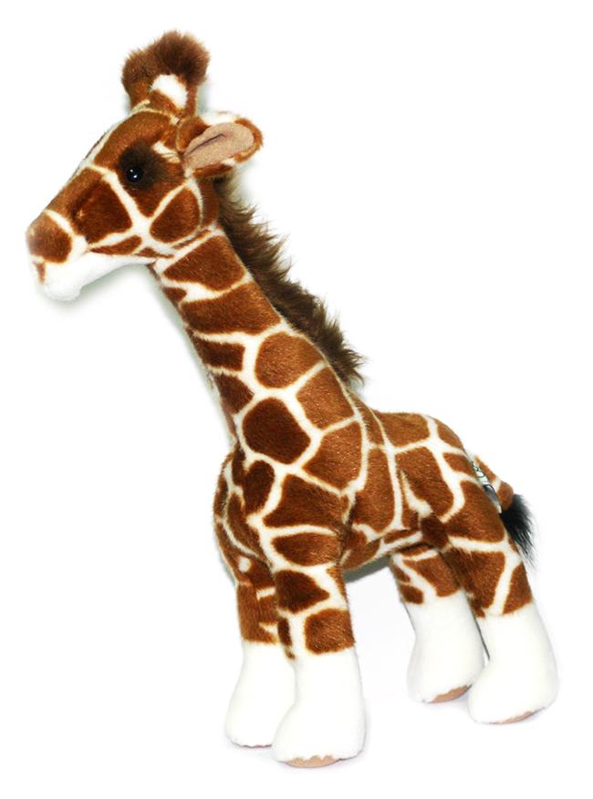 Мягкая игрушка Hansa Жираф, 38 см1671Очаровательная мягкая игрушка Жираф вызовет умиление и улыбку у каждого, кто ее увидит. Игрушка очень похожа на своего живого прототипа. Ноги у жирафа гнутся и могут оставаться в согнутом положении. Игрушка станет замечательным подарком, как ребенку, так и взрослому. Игрушки фирмы Hansa шьются и набиваются вручную, что позволяет достигнуть максимальной реалистичности образа. Изготавливаются из искусственного меха, специально обработанного для придания схожести с мехом конкретного вида животного. Глаза выполнены из пластика, а хвостик, рожки и загривок украшены удлиненным ворсом. Великолепное качество исполнения делают эту игрушку чудесным подарком к любому празднику. Интересная и симпатичная, она непременно вызовет улыбку у детей и взрослых.