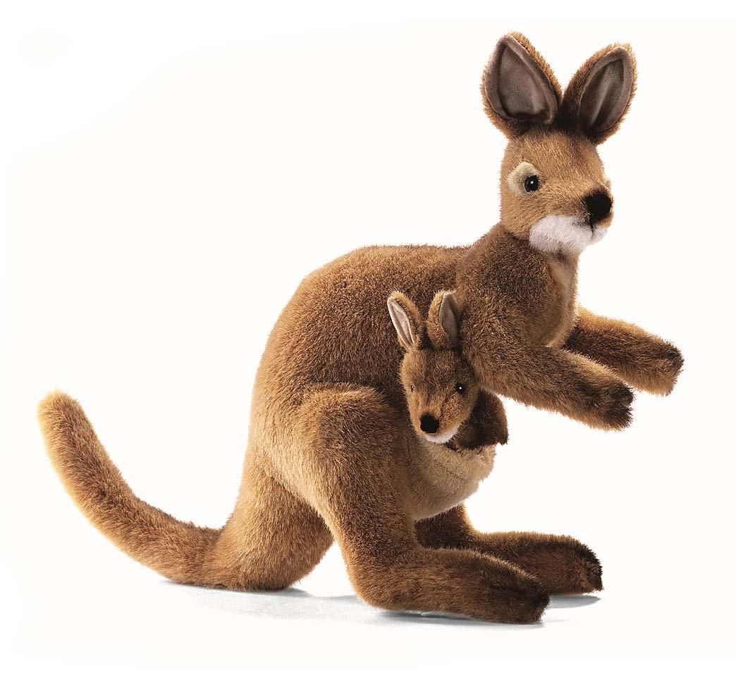 Мягкая игрушка Hansa Валлаби, 38 см2782Очаровательная игрушка Hansa Валлаби выполнена в виде кенгуру с детенышем в сумке. Игрушка изготовлена из нетоксичных экологически чистых материалов. Игрушки фирмы Hansa шьются и набиваются вручную, что позволяет достигнуть максимальной реалистичности образа. Данная игрушка выполнена из искусственного меха, специально обработанного для придания схожести с мехом конкретного вида животного. Глаза выполнены из пластика. Хвост и лапы игрушки гнутся, что делает игру более естественной. Удивительно мягкая игрушка принесет радость и подарит своему обладателю мгновения нежных объятий и приятных воспоминаний. Великолепное качество исполнения делают эту игрушку чудесным подарком к любому празднику. Интересная и симпатичная, она непременно вызовет улыбку у детей и взрослых.