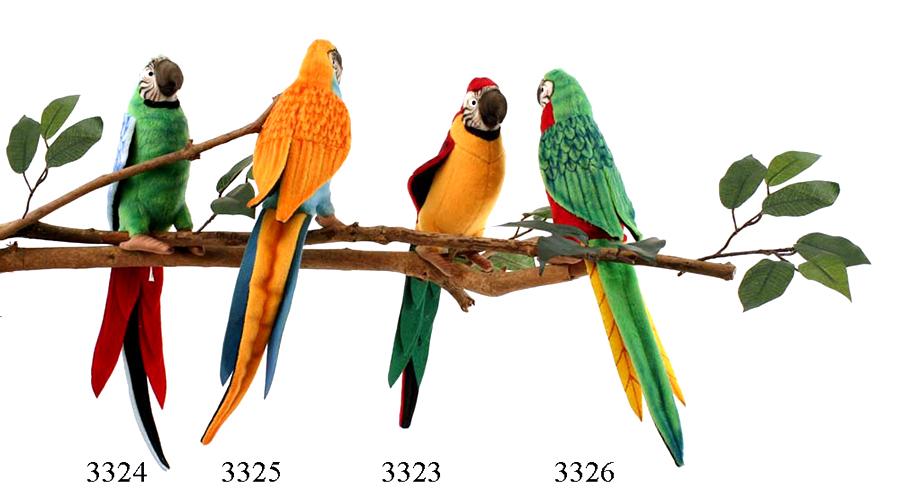 HANSA 3326 Попугай красный, 37 см3326