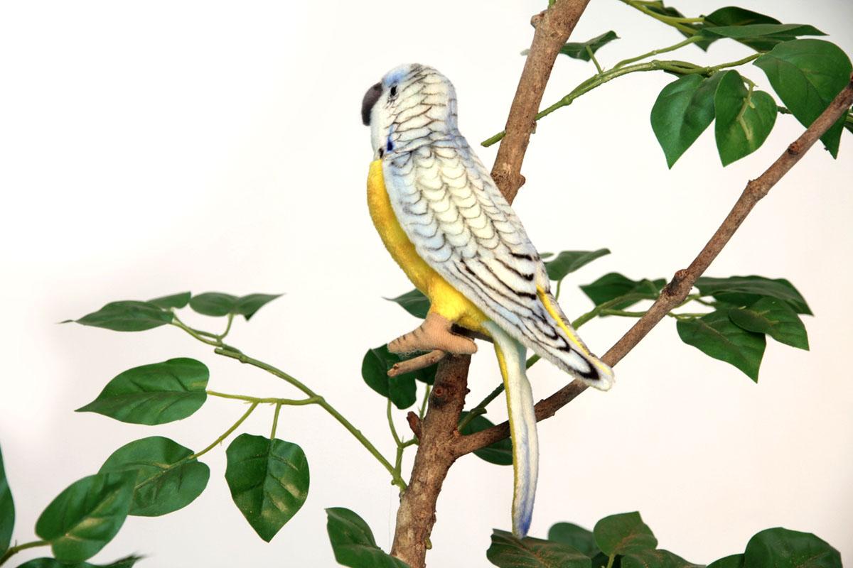 Мягкая игрушка Hansa Попугай волнистый голубой, 15 см4653Очаровательная мягкая игрушка Hansa Попугай волнистый голубой принесет радость и подарит своему обладателю мгновения нежных объятий и приятных воспоминаний. В вашем доме поселится удивительный каролинский попугай. Ваш ребёнок сможет узнать, как выглядят эти птицы, чем питаются и как перемещаются по деревьям. Во время игры родители могут рассказать ребенку много интересного о животных, и ребенок наверняка все это запомнит, ведь информация будет подана в игровой форме. Игрушки фирмы Hansa шьются и набиваются вручную, что позволяет достигнуть максимальной реалистичности образа. Данная игрушка выполнена из искусственного меха, специально обработанного для придания схожести с мехом конкретного вида животного. Глаза выполнены из пластика. Крылья не зафиксированы. Внутри стоит прочный металлический каркас, за счёт чего лапки попугая могут менять свое положение. Красочный попугай станет замечательным украшением детской комнаты, одним из экспонатов игрушечного зоопарка.