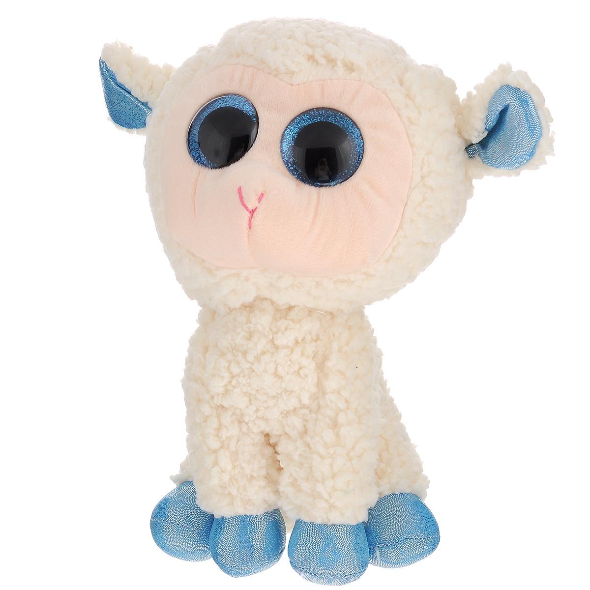 Мягкая игрушка Beanie Boos Овечка Olga, 23 см36133Очаровательная мягкая игрушка Beanie Boos Овечка Olga, выполненная в виде милой овечки, непременно вызовет улыбку и симпатию и у детей, и у взрослых. Трогательная овечка с выразительными пластиковыми глазками выполнена из высококачественного текстильного материала с набивкой из синтепона. Специальные гранулы, также используемые при набивке игрушки, способствуют развитию мелкой моторики рук малыша. Как и все игрушки серии Beanie Boos, овечка изготовлена вручную с любовью и вниманием к деталям. Удивительно мягкая игрушка принесет радость и подарит своему обладателю мгновения нежных объятий и приятных воспоминаний. Великолепное качество исполнения делают эту игрушку чудесным подарком к любому празднику.