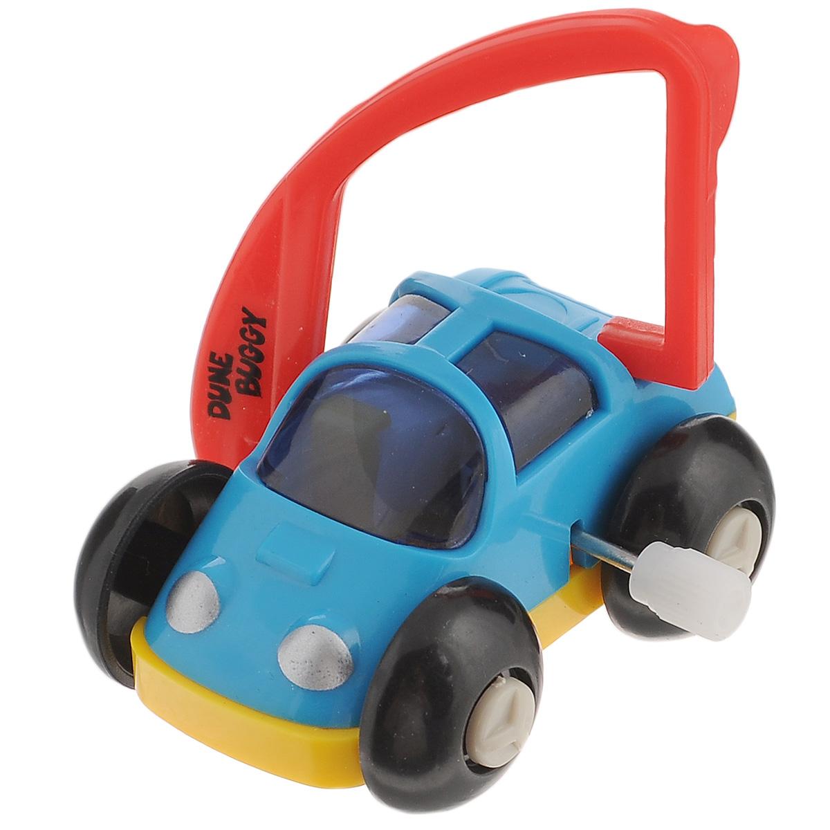 Игрушка заводная Багги, цвет: голубой, красный2K-62BDИгрушка Hans Багги привлечет внимание вашего малыша и не позволит ему скучать! Выполненная из безопасного пластика, игрушка представляет собой забавную машинку. Игрушка имеет механический завод. Для запуска, придерживая колеса, поверните заводной ключ по часовой стрелке до упора. Установите игрушку на поверхность и она поедет вперед, так же во время движения машинка поднимается на задние колеса. Игра с заводными игрушками способствует приятному времяпрепровождению, стимулирует ребенка к активным действиям, научит устанавливать причинно-следственные связи. Мелкие детали и разнофактурные материалы благоприятствуют развитию тактильных ощущений и моторики пальчиков, а яркие цвета и забавные формы стимулируют зрение.