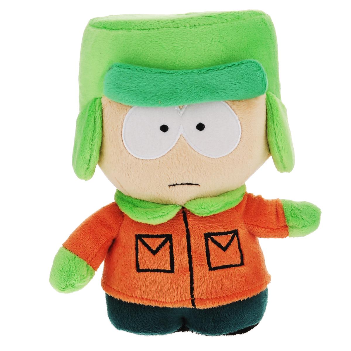 Мягкая озвученная игрушка South Park Кайл, 22 смТ57482Оригинальная мягкая игрушка выполнена в виде Кайла - одного из персонажей американского мультсериала Южный парк (South Park). При нажатии на левую ладонь игрушки воспроизводится одна из 10 знаменитых фраз Кайла или песенка из мультсериала. Содержит ненормативную лексику. Мягкая озвученная игрушка South Park Кайл придется по душе поклоннику Южного парка! Южный парк - второй по длительности анимационный сериал в истории американского телевидения. Сериал выходит поздно вечером и позиционируется как мультфильм для взрослых. Рекомендуется докупить 3 батарейки напряжением 1,5V типа ААА (товар комплектуется демонстрационными).