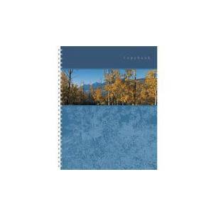 тетрадь А4 120л Панорама, жесткий ламинат (матовый), цвет: синий4601921376494синий