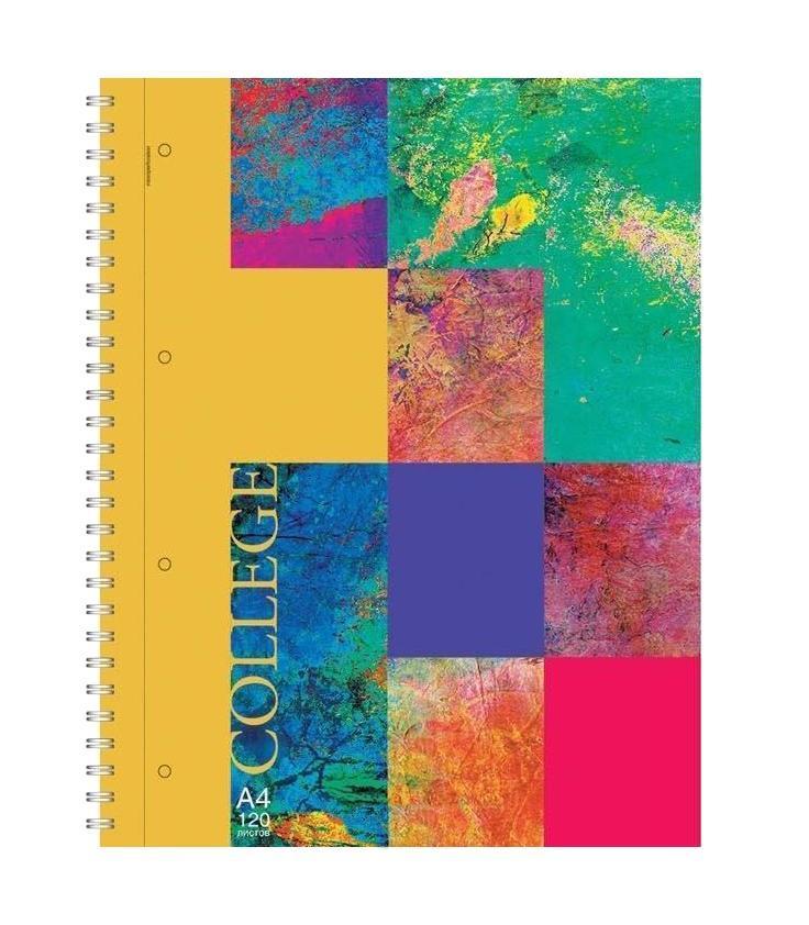 тетрадь А4 120л COLLEGE, жесткий ламинат (глянцевый), цвет: красный4601921376487красныйОтличная тетрадь подойдет как школьнику так и в повседневной жизни. Тетрадь зделана с качественой бумаги. Обложку украшает отличный принт.