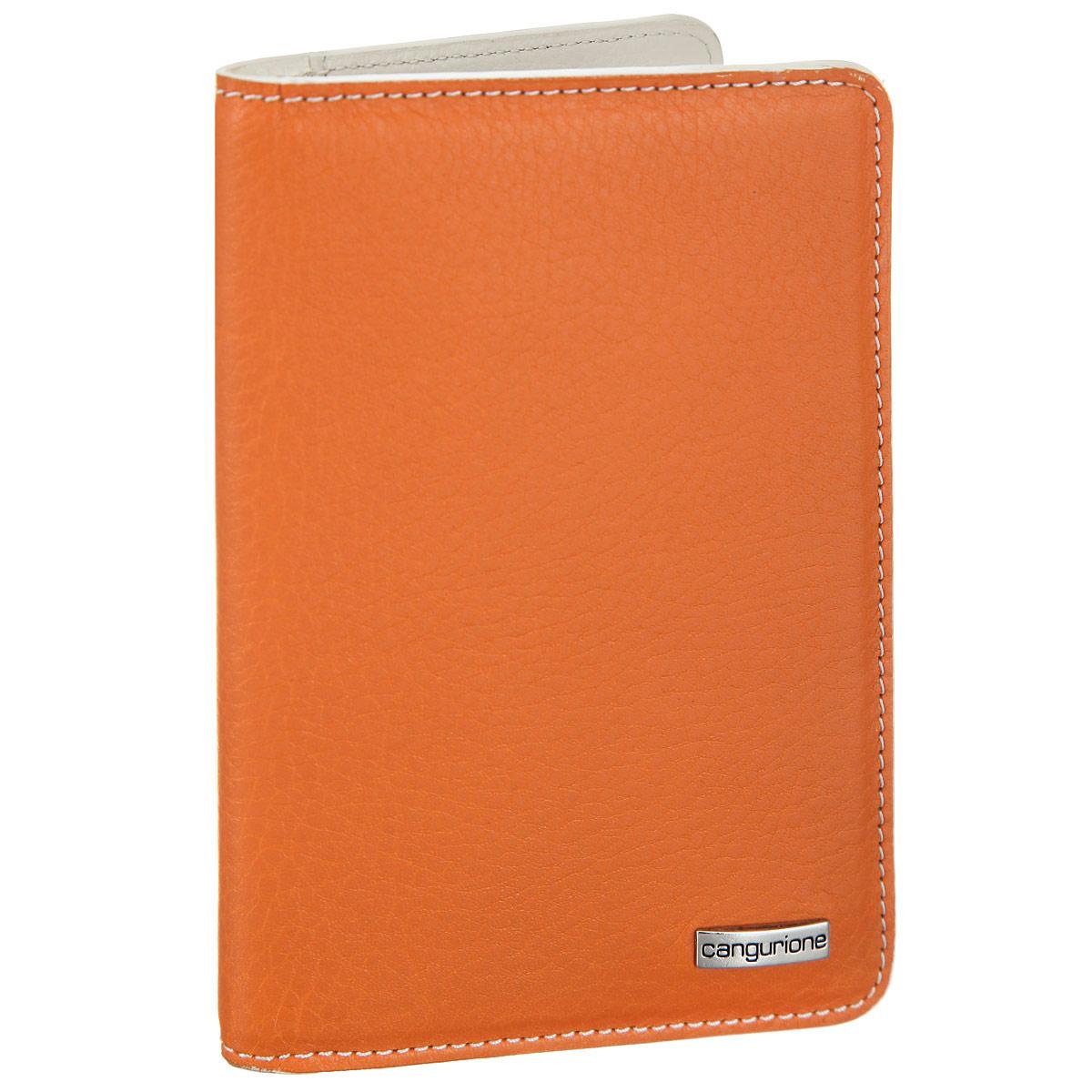 Обложка для автодокументов Cangurione, цвет: оранжевый, молочный. 3334-A3334-A/Orange-BeigeОбложка для автодокументов Cangurione выполнена из натуральной высококачественной кожи и декорирована фактурным тиснением, контрастной прострочкой по контуру. Лицевая сторона обложки оформлена металлической пластиной с названием бренда. На внутреннем развороте: 8 прорезей для визиток и кредитных карт (одна - с сетчатым окошком) и два боковых кармана для бумаг и чеков. Изделие упаковано в стильную фирменную коробку. Обложка не только поможет сохранить внешний вид ваших документов и защитить их от повреждений, но и станет стильным аксессуаром, который подчеркнет ваш неповторимый стиль.