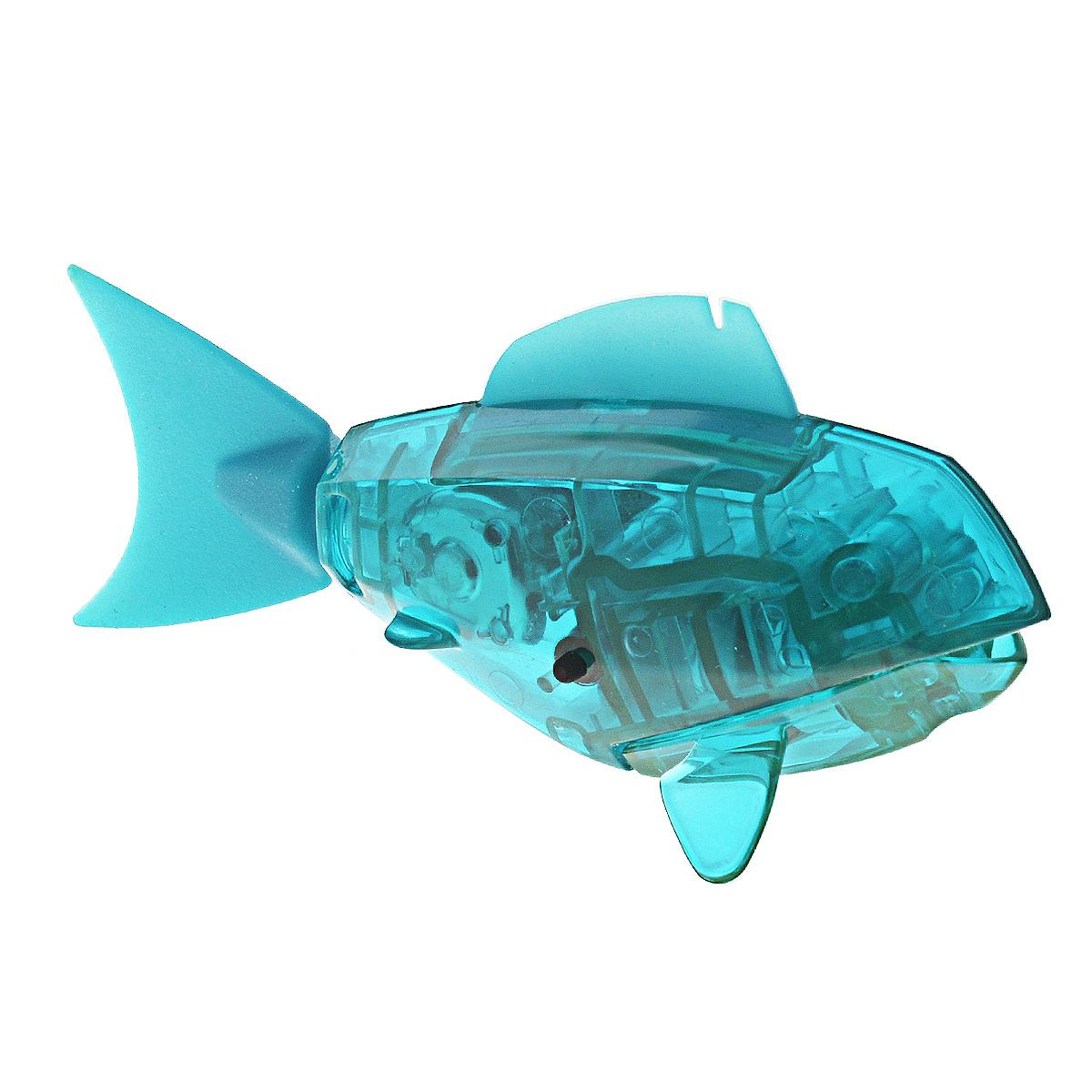 Игровой наюбор Hexbug Aqua Bot, с аквариумом, цвет: бирюзовый460-2914_бирюзовыйУникальный микро-робот рыбка Hexbug Aquabot изготовлен из безопасного пластика и выполнен в виде забавной рыбки. Теперь микро-роботы осваивают и водные глубины! Микро-робот рыбка Hexbug Aquabot плавает как настоящая рыба и непредсказуем в направлении движения. Опустите его в воду и он оживет! Если микро-робот замер, то достаточно просто всколыхнуть воду и он снова поплывёт. Вне воды микро-робот автоматически выключается. В комплект с рыбкой входит аквариум. Для работы игрушки необходимы 2 батареи типа LR44 (товар комплектуется демонстрационными).