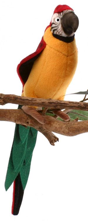 HANSA 3323 Желтый попугай, 37 см3323