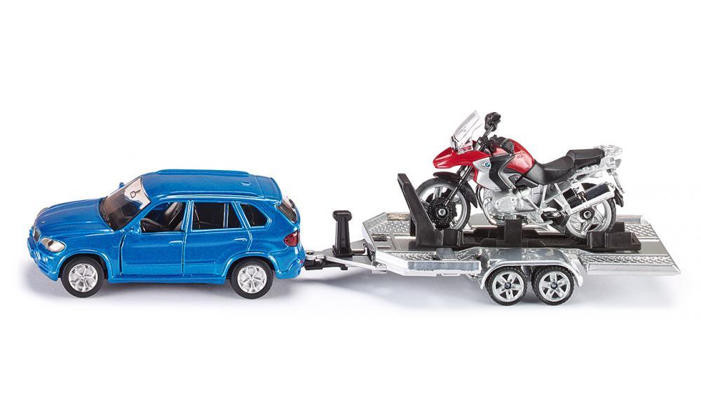 Siku Игровой набор BMW X5 с прицепом и мотоциклом BMW R 1200 GS2547Игрушечная модель Автомобиль с прицепом и мотоциклом