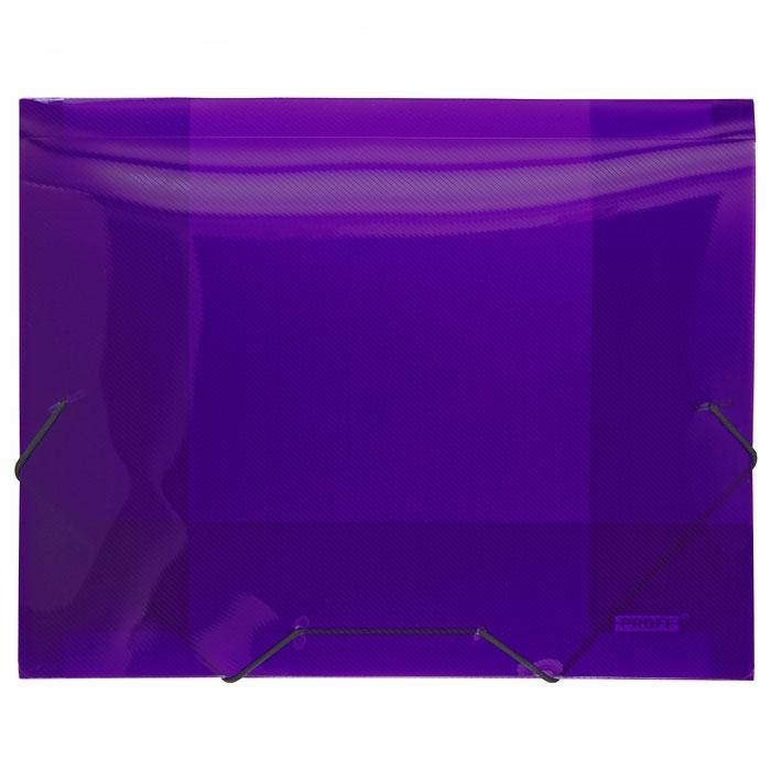 Папка на резинке Proff Next, ширина корешка 20 мм, цвет: фиолетовый. Формат А4SB20TW-09Папка на резинке Proff Next - это удобный и функциональный офисный инструмент, предназначенный для хранения и транспортировки рабочих бумаг и документов формата А4. Папка изготовлена из износостойкого высококачественного полипропилена. Внутри папка имеет три клапана, что обеспечивает надежную фиксацию бумаг и документов. Папка - это незаменимый атрибут для студента, школьника, офисного работника. Такая папка надежно сохранит ваши документы и сбережет их от повреждений, пыли и влаги.