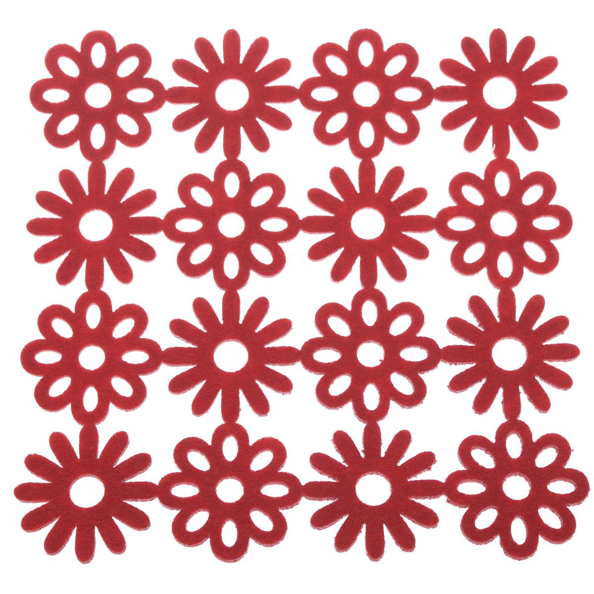 Салфетка-подставка Orange, квадратная, цвет: красный, 20 х 20 см82015_красныйСалфетка Orange используется как подставка под горячее. Так же возможно использование как украшение интерьера.