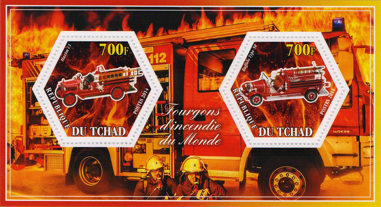 Почтовый блок Пожарные машины всего мира №1. Чад, 2014 год401306Почтовый блок Пожарные машины всего мира №1. Чад, 2014 год. Размер блока: 8 х 14 см. Размер марок: 4 х 4.5 см. Сохранность хорошая.