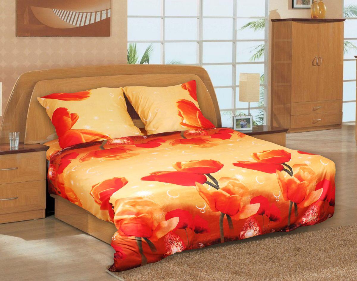 Комплект белья 3D Amore Mio ET Chudo, 1,5-спальный, наволочки 70х70, цвет: красный, бежевый. 7486974869Комплект постельного белья Amore Mio ET Chudo является экологически безопасным для всей семьи, так как выполнен из мако-сатина. Комплект состоит из пододеяльника, простыни и двух наволочек. Постельное белье оформлено оригинальным 3D рисунком и имеет изысканный внешний вид. Мако-сатин - свежее решение для уюта на даче или дома, созданное с любовью для вашего комфорта и отличного настроения! Нано-инновации позволили открыть новую ткань, полученную в результате высокотехнологического процесса, которая сочетает в себе широкий спектр отличных потребительских характеристик и невысокой стоимости. Легкая, плотная, мягкая ткань отлично стирается, гладится, быстро сохнет. Дисперсное крашение великолепно передает качество рисунков и необычайно устойчиво к истиранию. Процесс ворсования поверхности придает полотну дополнительную нежность шелка и дарит необычайно сладкую негу тактильных удовольствий.
