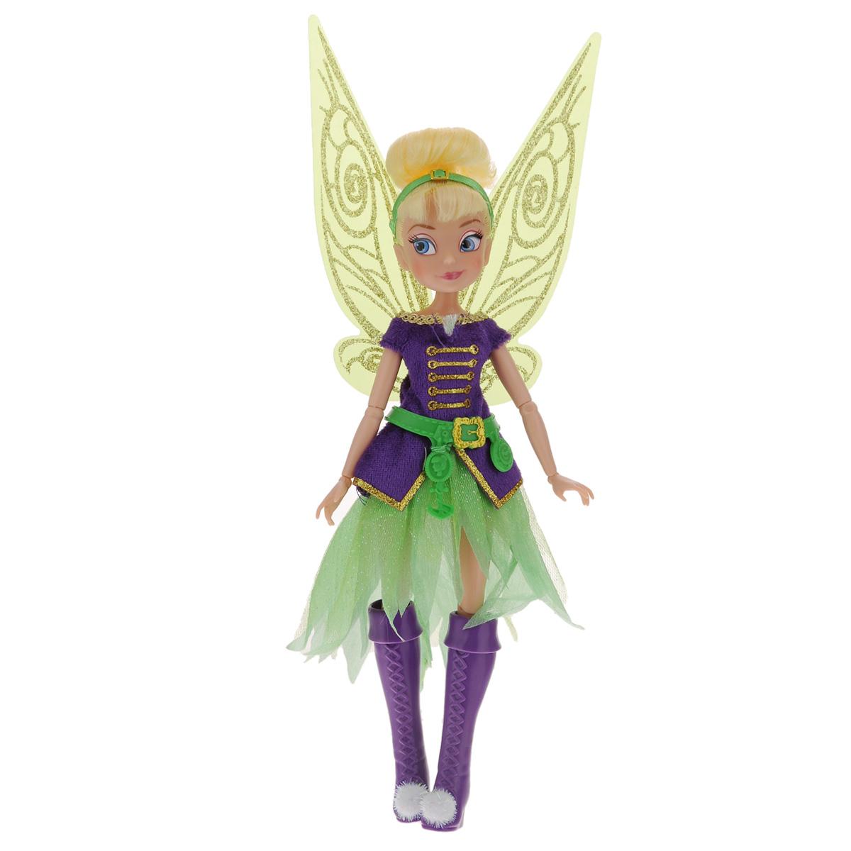 Disney Fairies Кукла Tink цвет платья фиолетовый762750_TinkФеи Disney - сказочные героини, которые живут в гармонии с природой, их жизнь полна захватывающих приключений и интересных открытий. Куколка со светлыми волосами одета в стильный яркий наряд, дополненный ремнем; на ножках - модные высокие сапожки с помпонами. Волшебства образу феи придают большие крылья у нее за спиной. У куклы подвижные ручки, ножки, голова. Кукла Disney Fairies Tink непременно станет хорошим подарком вашему ребенку и подарит ему приятные воспоминания.