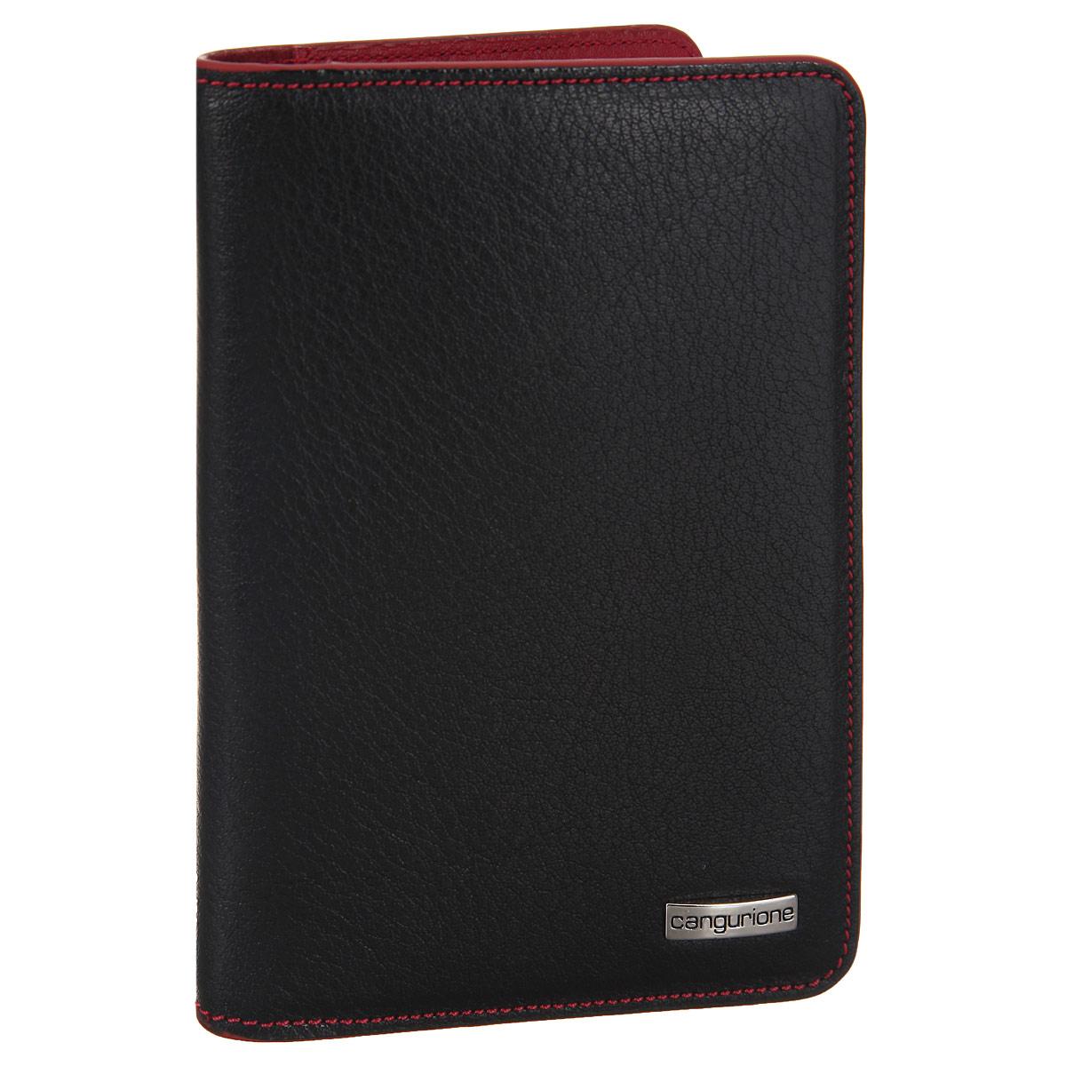 Обложка для автодокументов Cangurione, цвет: черный, красный. 3334-A3334-A/Black--RedОбложка для автодокументов Cangurione выполнена из натуральной высококачественной кожи и декорирована фактурным тиснением, контрастной прострочкой по контуру. Лицевая сторона обложки оформлена металлической пластиной с названием бренда. На внутреннем развороте: 8 прорезей для визиток и кредитных карт (одна - с сетчатым окошком) и два боковых кармана для бумаг и чеков. Изделие упаковано в стильную фирменную коробку. Обложка не только поможет сохранить внешний вид ваших документов и защитить их от повреждений, но и станет стильным аксессуаром, который подчеркнет ваш неповторимый стиль.