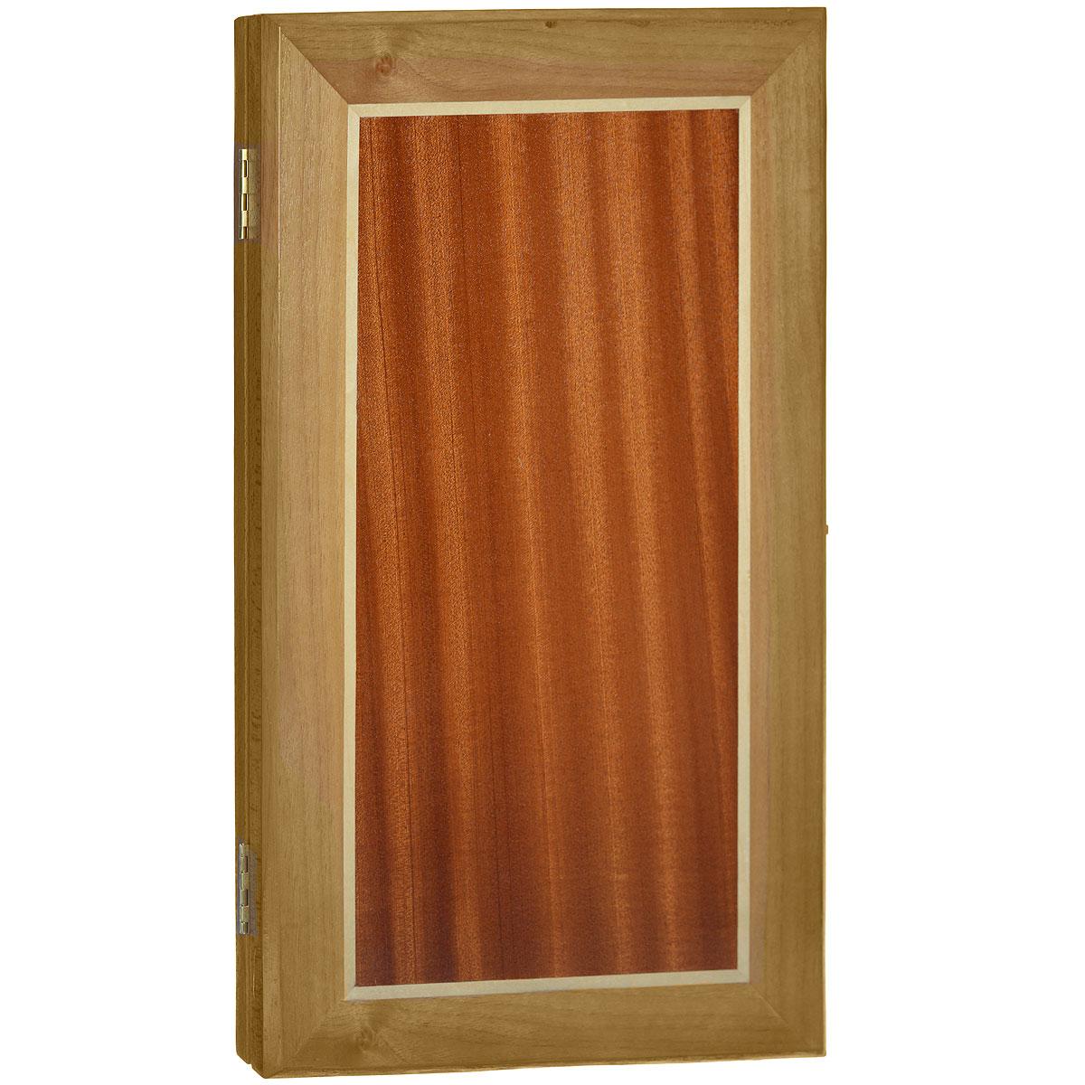 Нарды малые Квадрат, цвет: коричневый, размер: 48х28х5 см. 10051005