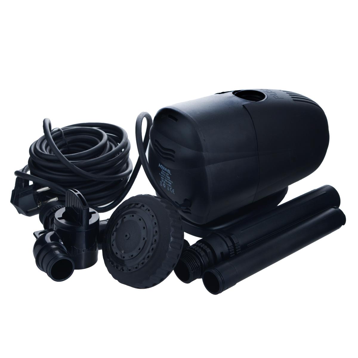 Насос фонтанный Aquael. PFN-7500PFN-7500Насос фонтанный Aquael предназначен для помпования и фильтрации воды в фонтанах, каскадах, водоемах, садовых прудах и приусадебных бассейнах. Может использоваться также в других условиях, например, в садоводстве, в домашнем или сельском хозяйстве, при разведении рыб или животных, на строительных площадках и т.д. Небольшие размеры, значительная производительность и возможность регуляции, а прежде всего, простота конструкции, делает насос универсальным и эффективным. Для расширения возможности фонтана можно использовать дополнительные аксессуары из ассортимента Aquael. Максимальная температура: 35°C. Максимальная высота фонтана: 4 м. Размер насоса: 23 см х 12 см х 14 см. Длина кабеля: 10 м. Мощность: 7000 л/ч.