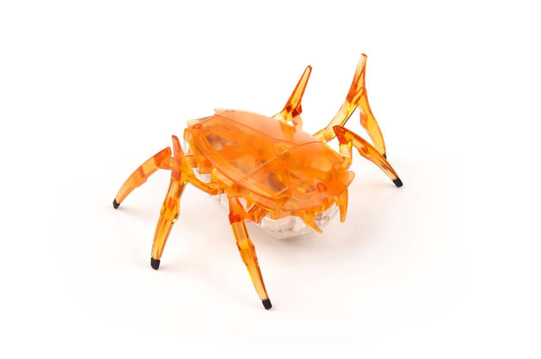 Скарабей, оранжевый477-2248HEXBUG Скарабей - такой маленький, что легко умещается на ладошке. Он невероятно быстро бегает.