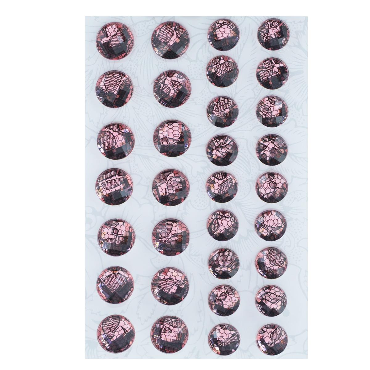 Наклейки декоративные Астра, цвет: розовый, 32 шт. 77083487708349Декоративные наклейки Астра, изготовленные из пластика, прекрасно подойдут для оформления творческих работ в технике скрапбукинга. Их можно использовать для украшения фотоальбомов, скрап-страничек, подарков, конвертов, фоторамок, открыток и т.д. Объемные наклейки круглой формы оснащены задней клейкой стороной. Скрапбукинг - это хобби, которое способно приносить массу приятных эмоций не только человеку, который этим занимается, но и его близким, друзьям, родным. Это невероятно увлекательное занятие, которое поможет вам сохранить наиболее памятные и яркие моменты вашей жизни, а также интересно оформить интерьер дома. Диаметр наклеек: 10 мм, 12 мм.