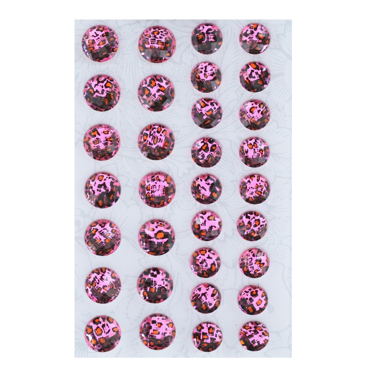 Наклейки декоративные Астра, цвет: розовый, 32 шт. 77083607708360Декоративные наклейки Астра, изготовленные из пластика, прекрасно подойдут для оформления творческих работ в технике скрапбукинга. Их можно использовать для украшения фотоальбомов, скрап-страничек, подарков, конвертов, фоторамок, открыток и т.д. Объемные наклейки круглой формы, декорированные анималистичным принтом, оснащены задней клейкой стороной. Скрапбукинг - это хобби, которое способно приносить массу приятных эмоций не только человеку, который этим занимается, но и его близким, друзьям, родным. Это невероятно увлекательное занятие, которое поможет вам сохранить наиболее памятные и яркие моменты вашей жизни, а также интересно оформить интерьер дома. Диаметр наклеек: 10 мм, 12 мм.