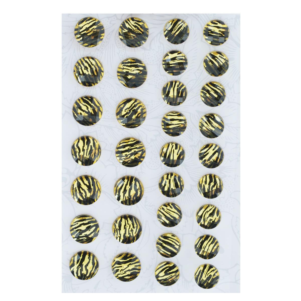 Наклейки декоративные Астра, цвет: желтый, 32 шт. 77083527708352Декоративные наклейки Астра, изготовленные из пластика, прекрасно подойдут для оформления творческих работ в технике скрапбукинга. Их можно использовать для украшения фотоальбомов, скрап-страничек, подарков, конвертов, фоторамок, открыток и т.д. Объемные наклейки круглой формы, декорированные анималистичным принтом, оснащены задней клейкой стороной. Скрапбукинг - это хобби, которое способно приносить массу приятных эмоций не только человеку, который этим занимается, но и его близким, друзьям, родным. Это невероятно увлекательное занятие, которое поможет вам сохранить наиболее памятные и яркие моменты вашей жизни, а также интересно оформить интерьер дома. Диаметр наклеек: 10 мм, 12 мм.