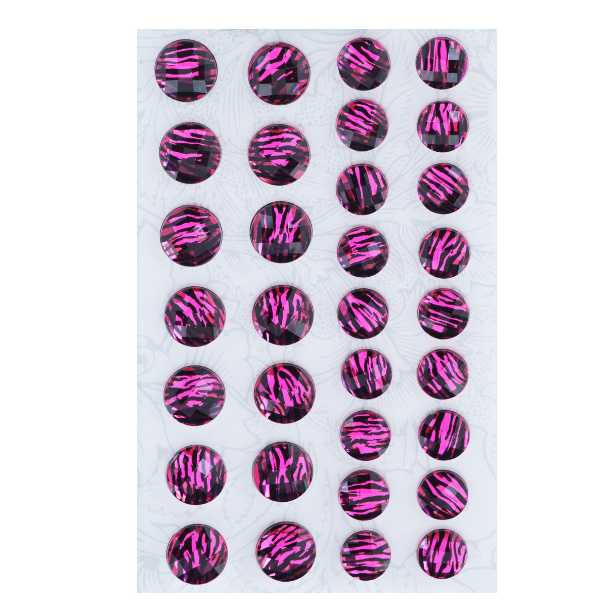 Наклейки декоративные Астра, цвет: розовый, 32 шт. 77083557708355Декоративные наклейки Астра, изготовленные из пластика, прекрасно подойдут для оформления творческих работ в технике скрапбукинга. Их можно использовать для украшения фотоальбомов, скрап-страничек, подарков, конвертов, фоторамок, открыток и т.д. Объемные наклейки круглой формы, декорированные анималистичным принтом, оснащены задней клейкой стороной. Скрапбукинг - это хобби, которое способно приносить массу приятных эмоций не только человеку, который этим занимается, но и его близким, друзьям, родным. Это невероятно увлекательное занятие, которое поможет вам сохранить наиболее памятные и яркие моменты вашей жизни, а также интересно оформить интерьер дома. Диаметр наклеек: 10 мм, 12 мм.