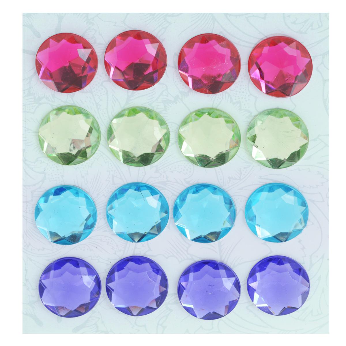 Наклейки декоративные Астра, диаметр 20 мм, 16 шт. 77084187708418Декоративные наклейки Астра, изготовленные из пластика, прекрасно подойдут для оформления творческих работ в технике скрапбукинга. Их можно использовать для украшения фотоальбомов, скрап-страничек, подарков, конвертов, фоторамок, открыток и т.д. Объемные разноцветные наклейки круглой формы с рельефной поверхностью оснащены задней клейкой стороной. Скрапбукинг - это хобби, которое способно приносить массу приятных эмоций не только человеку, который этим занимается, но и его близким, друзьям, родным. Это невероятно увлекательное занятие, которое поможет вам сохранить наиболее памятные и яркие моменты вашей жизни, а также интересно оформить интерьер дома. Диаметр наклейки: 20 мм.